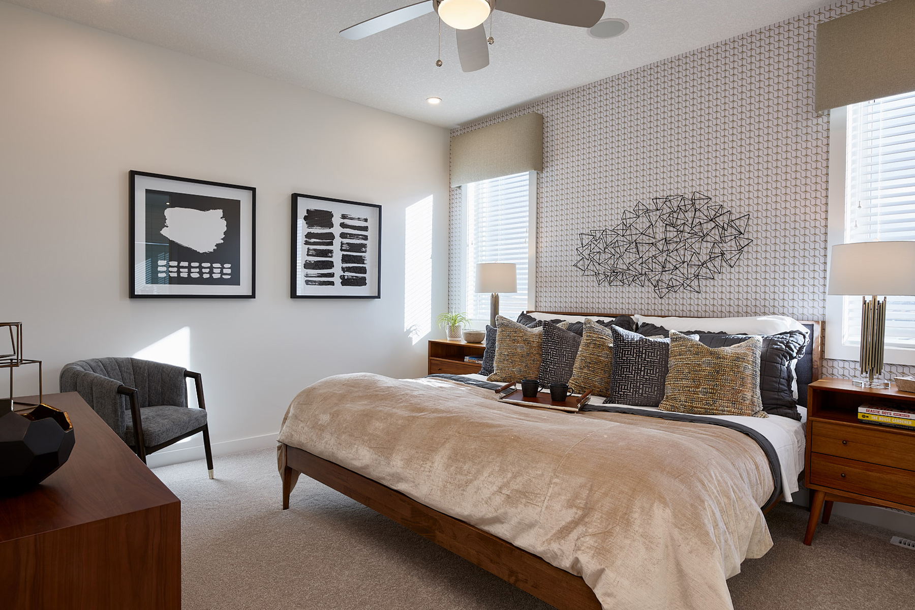 Hudson Plan Bedroom at The Enclave In Carrington in Calgary Alberta by Mattamy Homes
