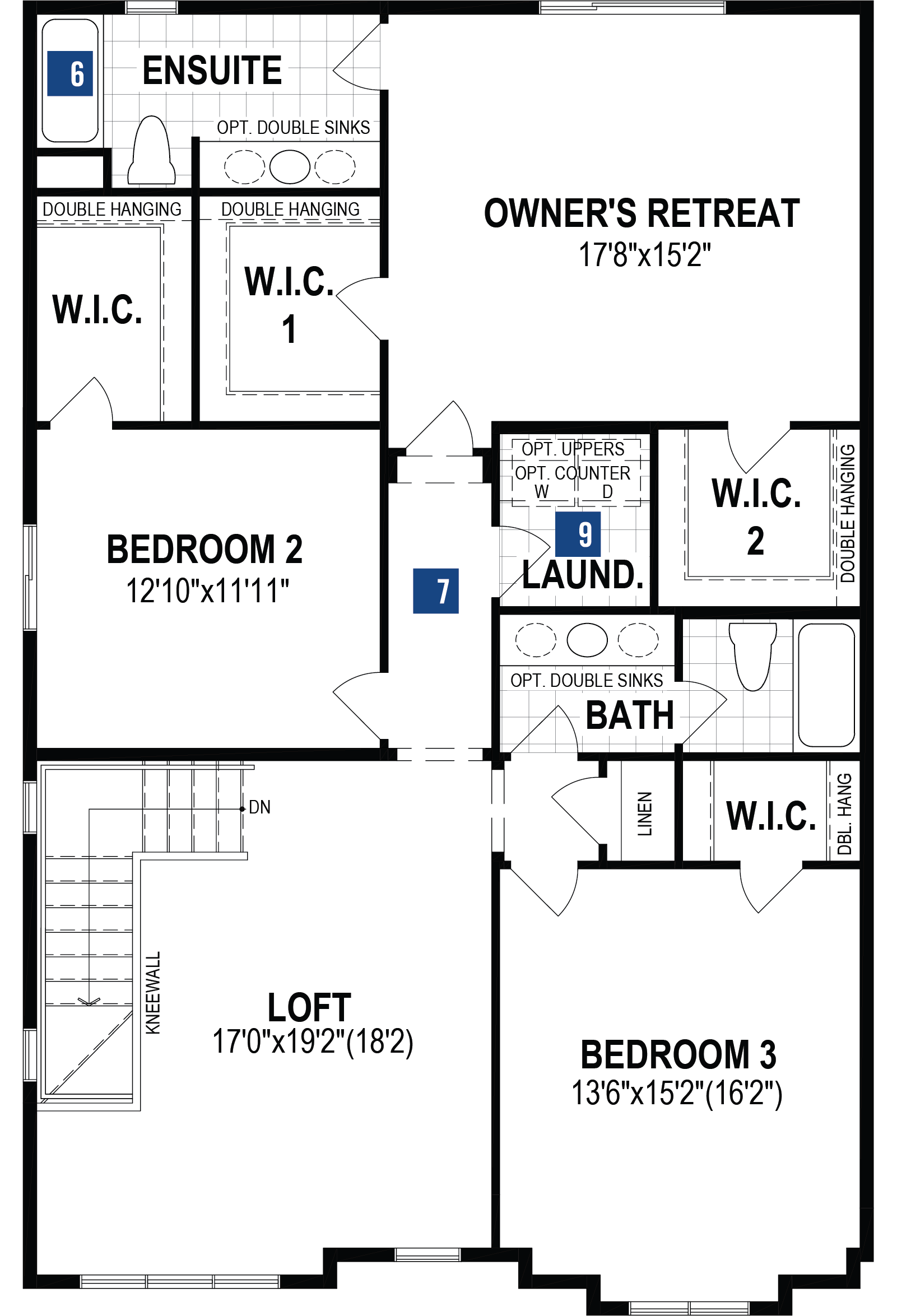 Jade Plan Floor Plan at The Enclave In Carrington in Calgary Alberta by Mattamy Homes