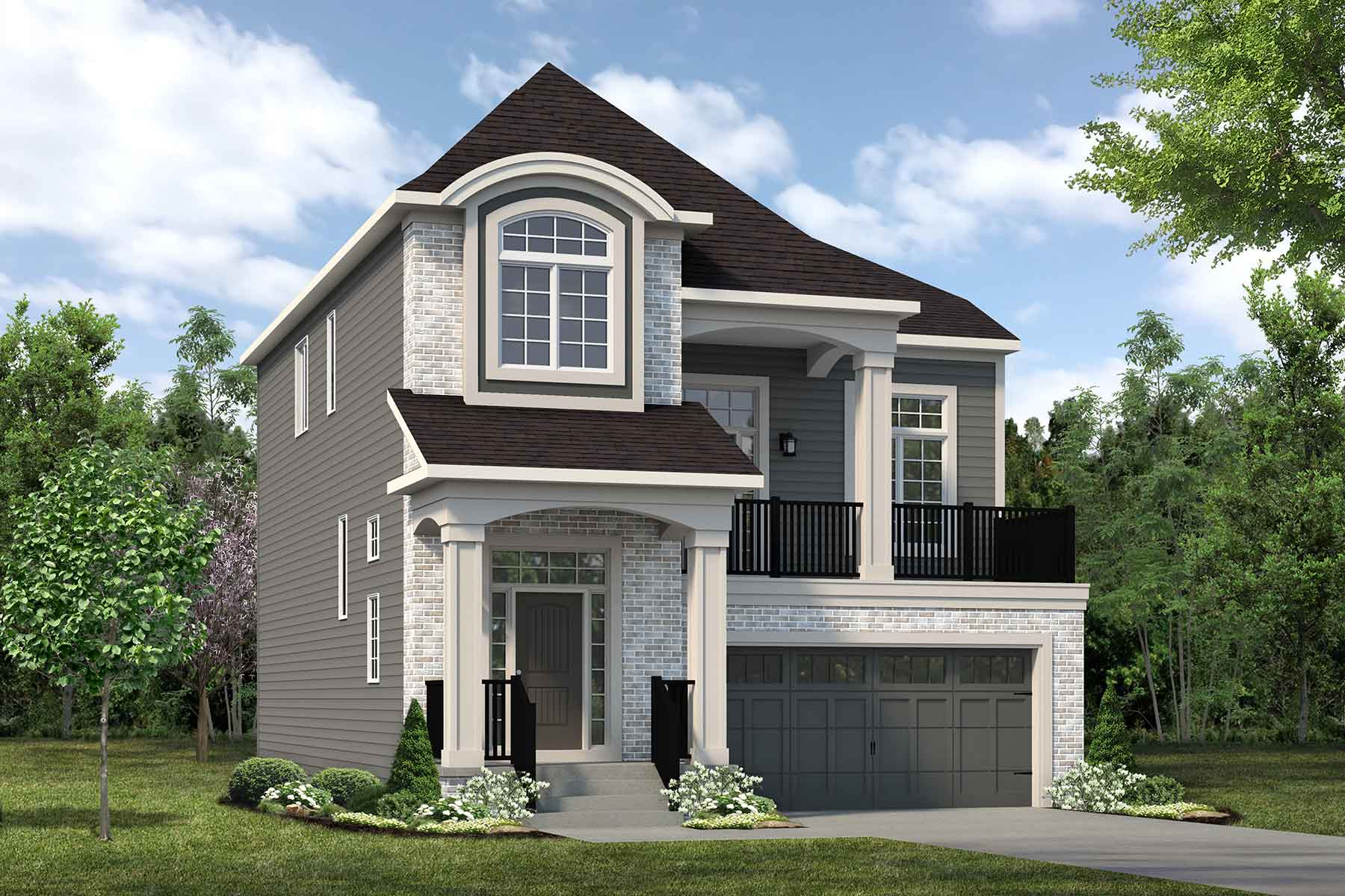 Onyx Plan Elevation Front at The Enclave In Carrington in Calgary Alberta by Mattamy Homes