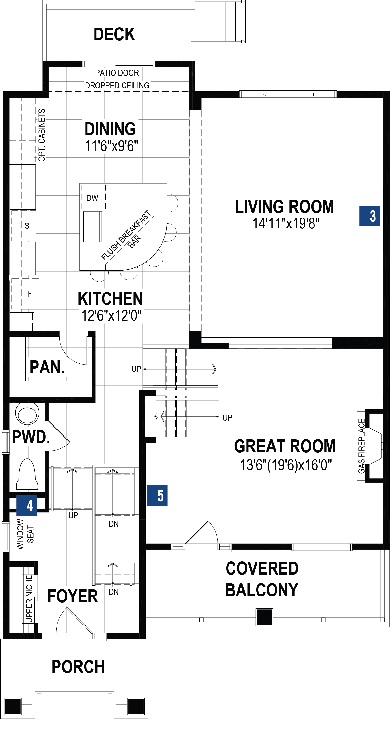 Onyx Plan Floor Plan at The Enclave In Carrington in Calgary Alberta by Mattamy Homes