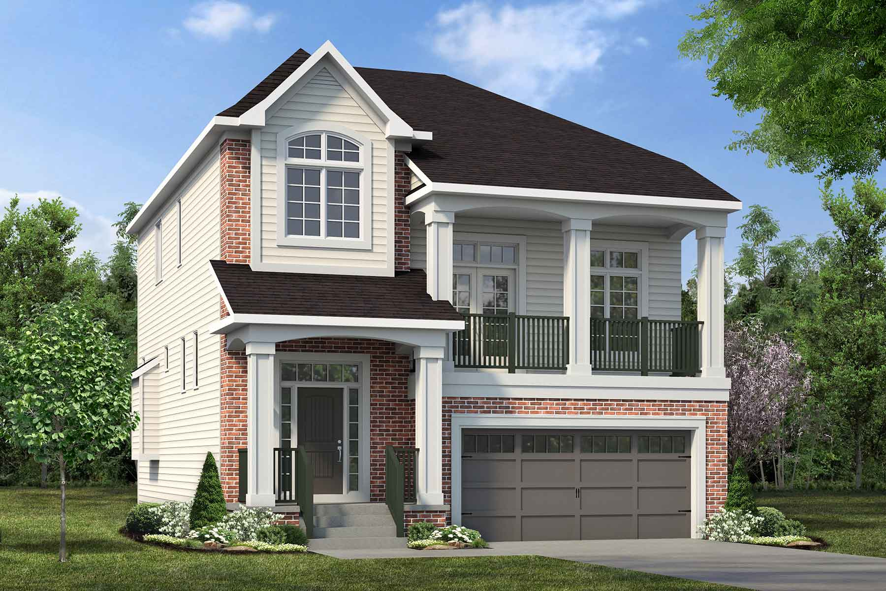 Pearl Plan Elevation Front at The Enclave In Carrington in Calgary Alberta by Mattamy Homes