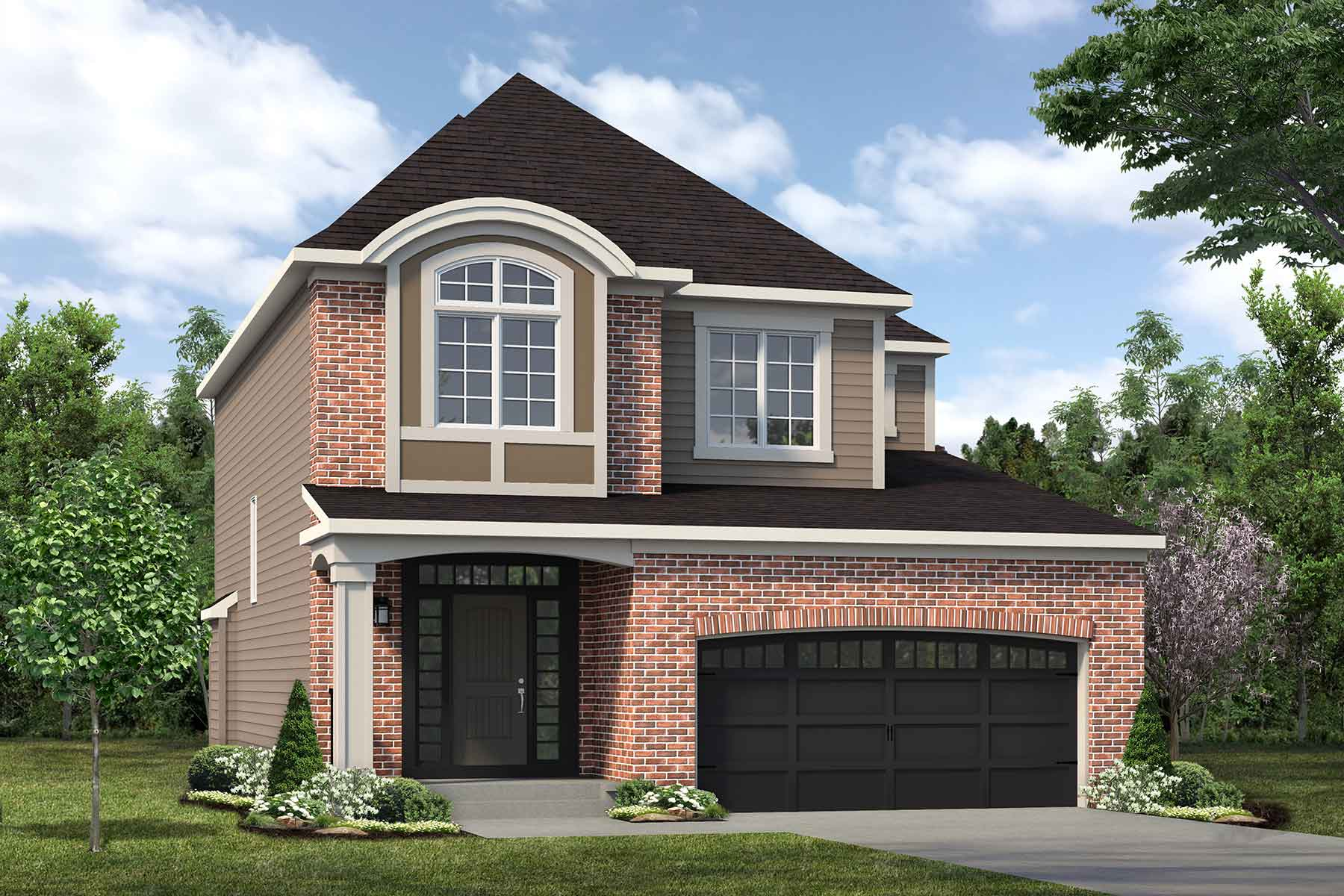 Riedel Plan elevationgeorgiancolonial_carringtonenclave_riedel_main at The Enclave In Carrington in Calgary Alberta by Mattamy Homes