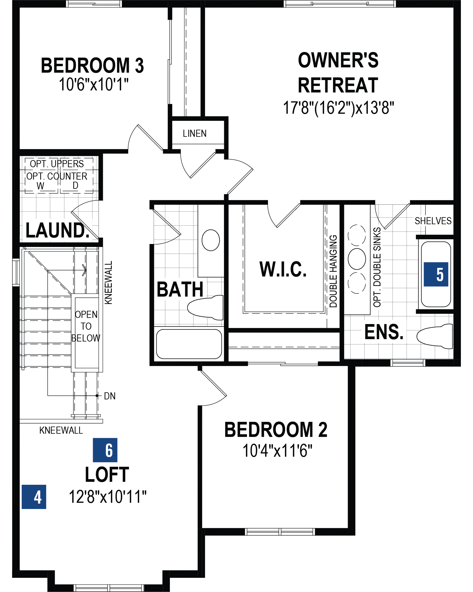Riedel Plan Floor Plan at The Enclave In Carrington in Calgary Alberta by Mattamy Homes
