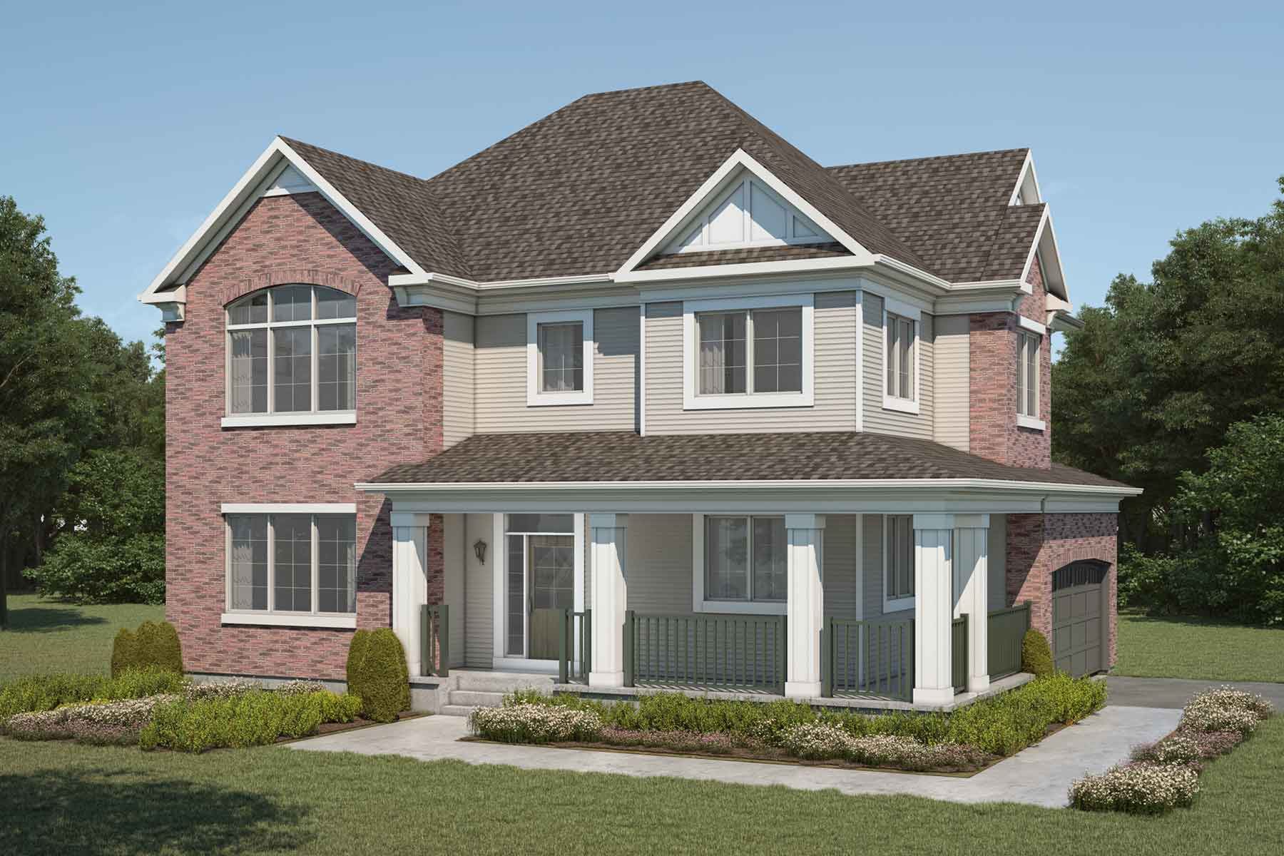 Borgeau Plan Elevation Front at Yorkville in Calgary Alberta by Mattamy Homes