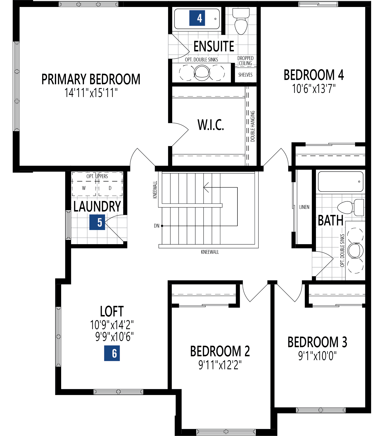 Borgeau Plan Floor Plan at Yorkville in Calgary Alberta by Mattamy Homes