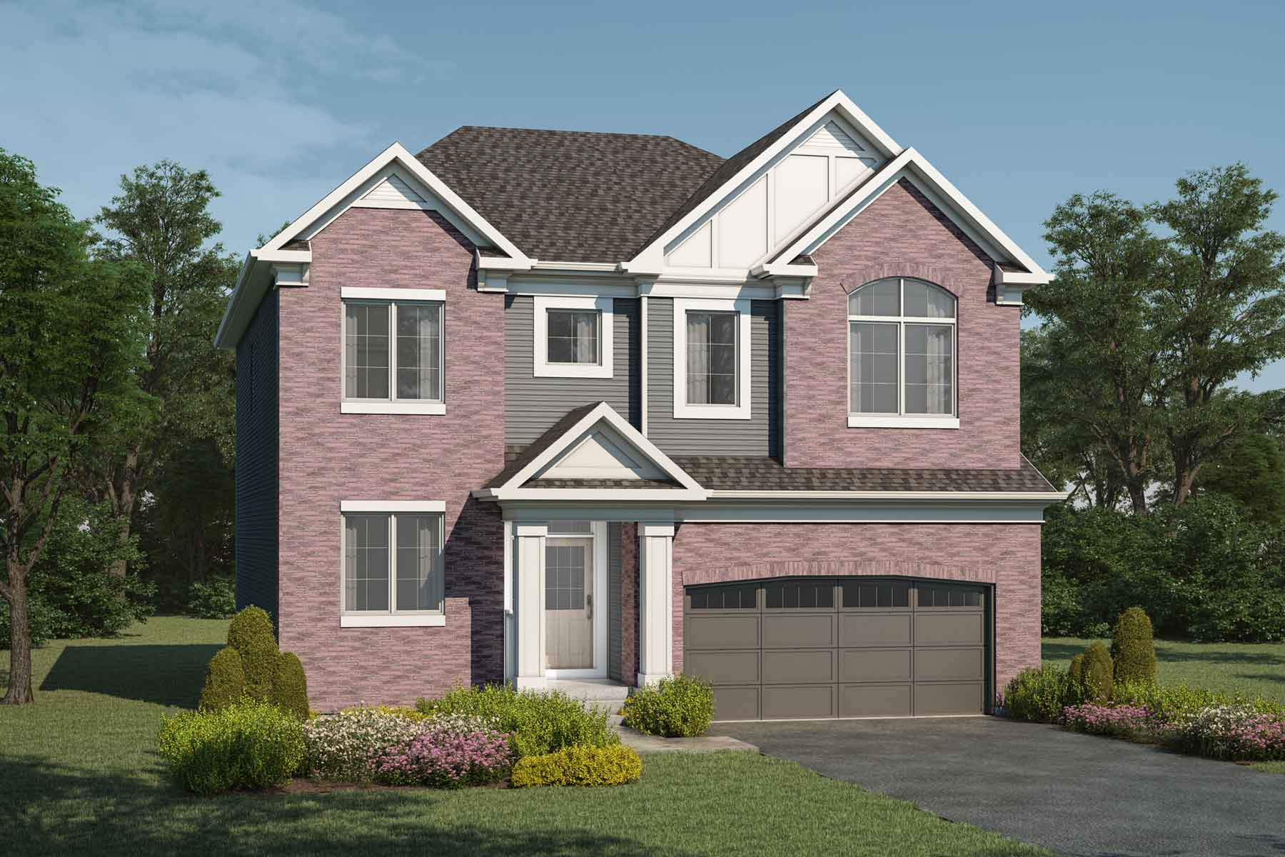 Cline Plan Elevation Front at Yorkville in Calgary Alberta by Mattamy Homes