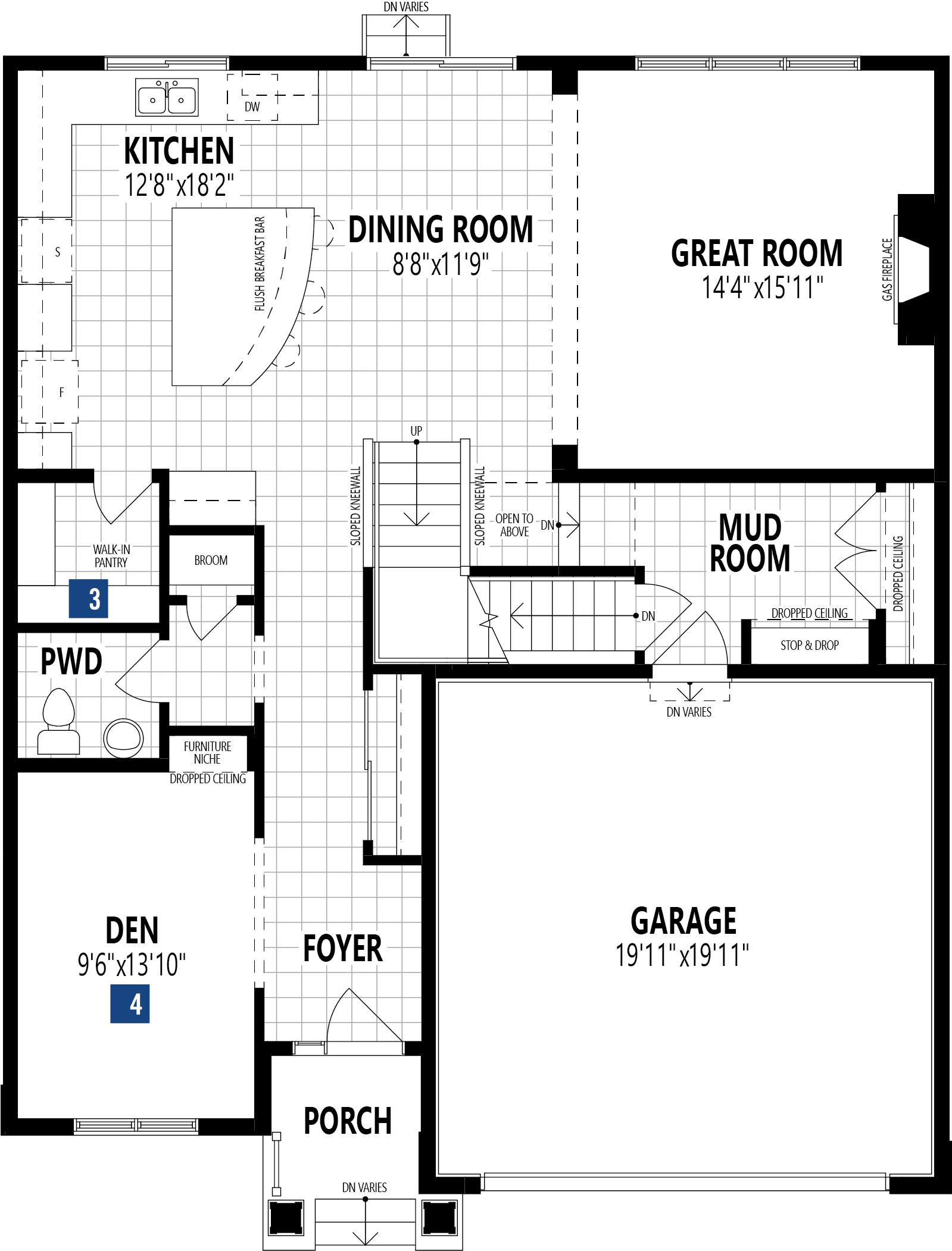 Cline Plan Floor Plan at Stillwater in Edmonton Alberta by Mattamy Homes