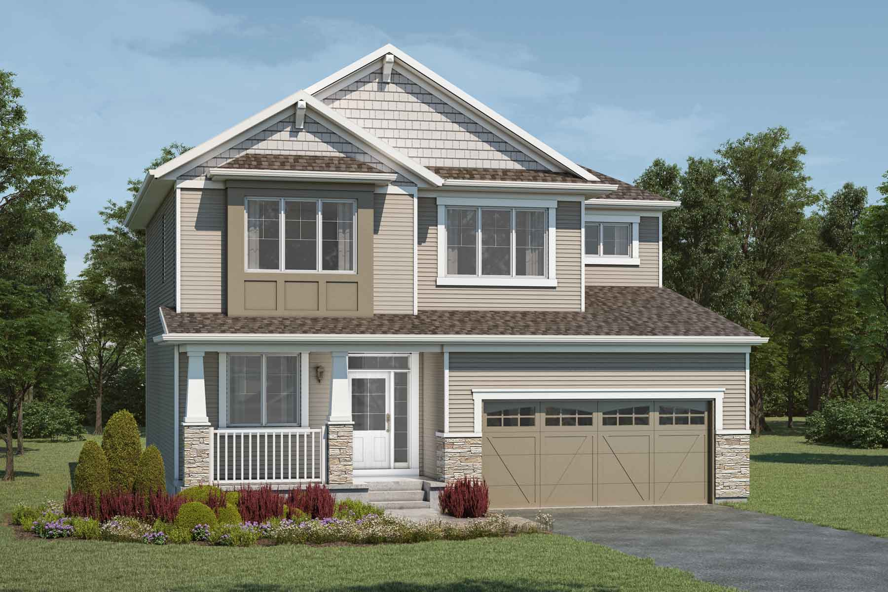 Maclaren Plan Elevation Front at Yorkville in Calgary Alberta by Mattamy Homes