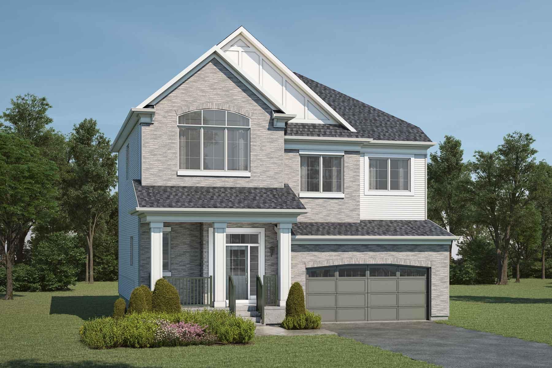 Ptarmigan Plan Elevation Front at Yorkville in Calgary Alberta by Mattamy Homes