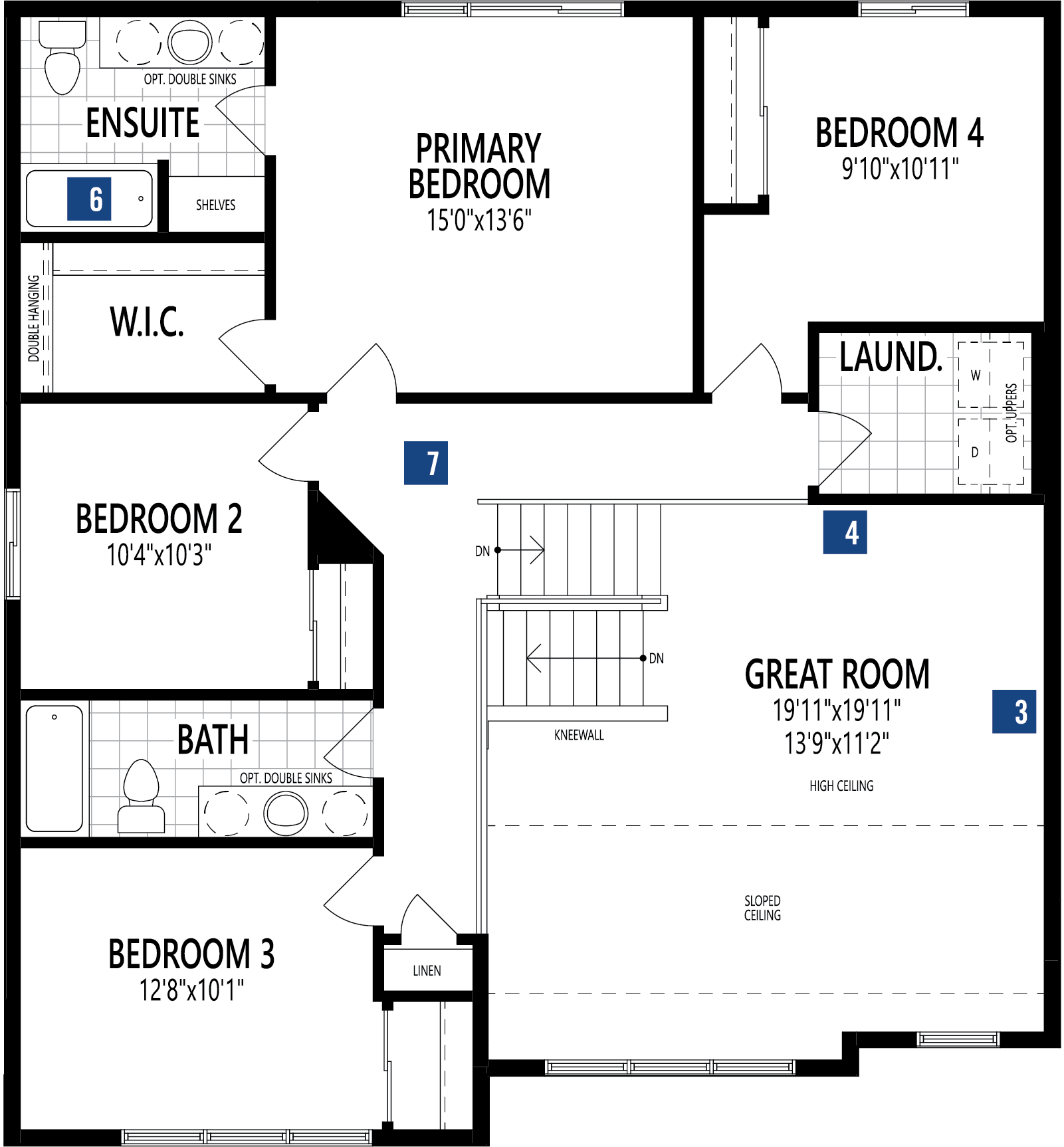 Ptarmigan Plan Floor Plan at Yorkville in Calgary Alberta by Mattamy Homes