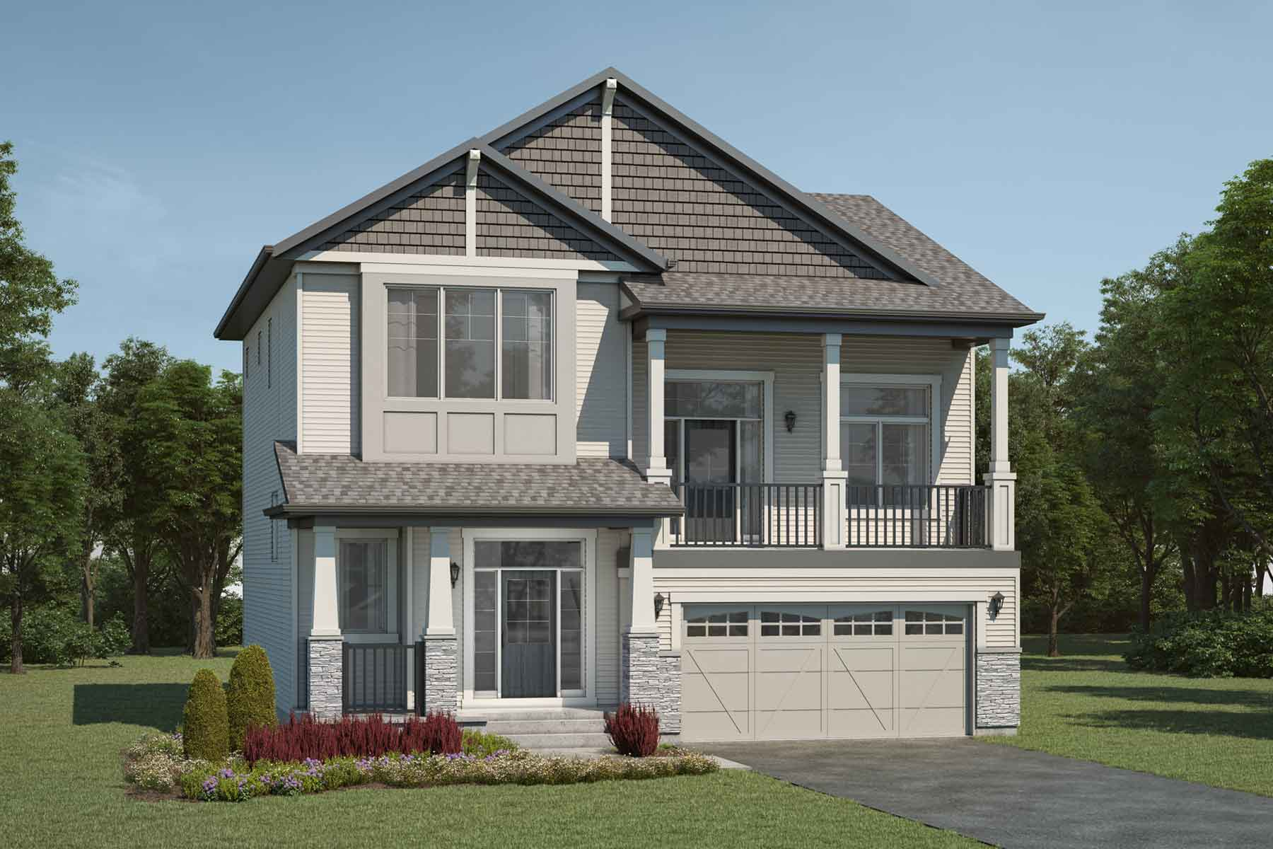 Raymond End Plan Elevation Front at Stillwater in Edmonton Alberta by Mattamy Homes