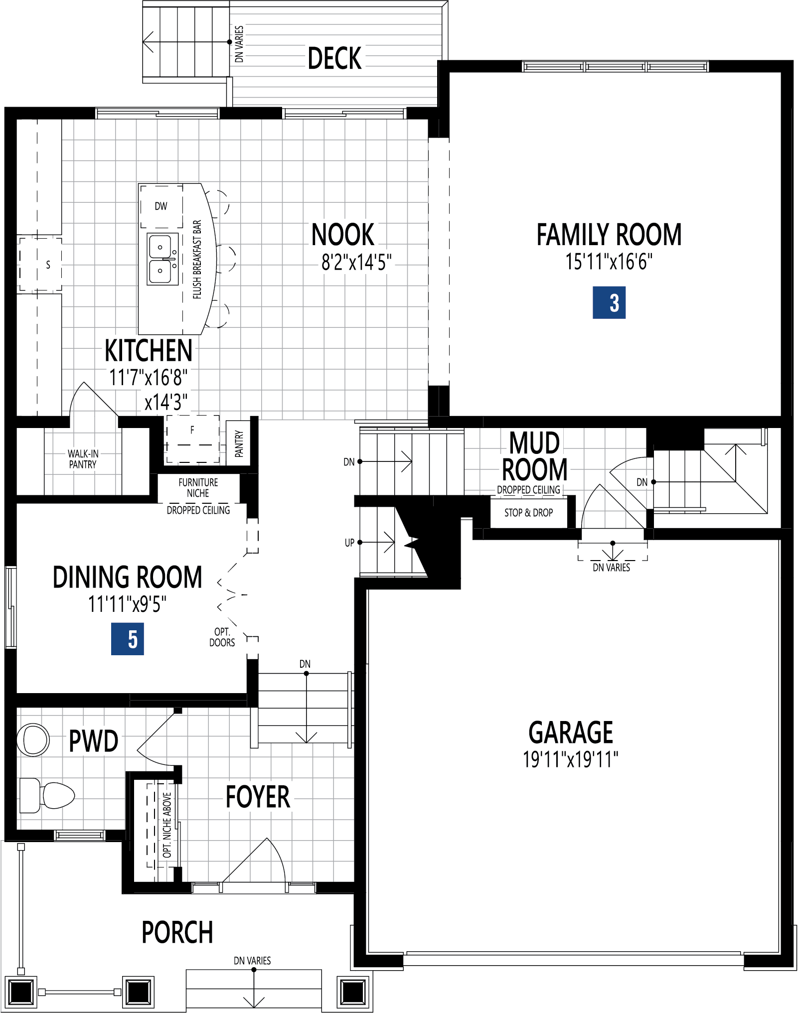 Rutherford Plan Floor Plan at Yorkville in Calgary Alberta by Mattamy Homes