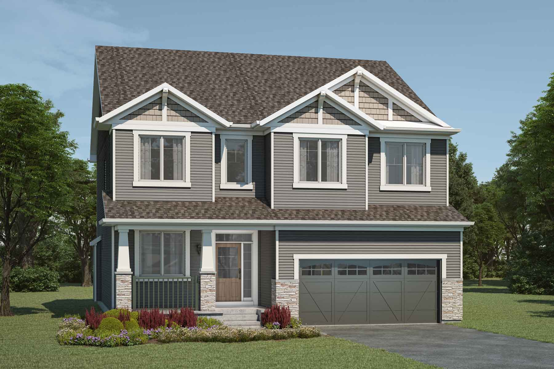 Smythe Plan Elevation Front at Yorkville in Calgary Alberta by Mattamy Homes