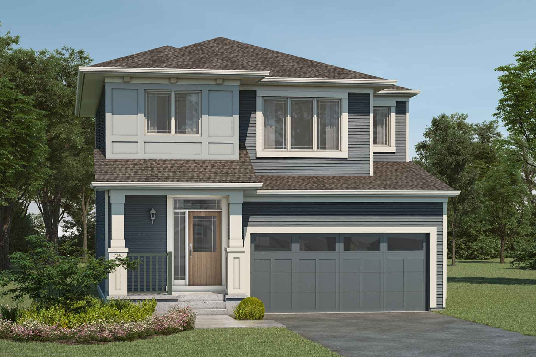 Yamnuska Plan Elevation Front at Yorkville in Calgary Alberta by Mattamy Homes
