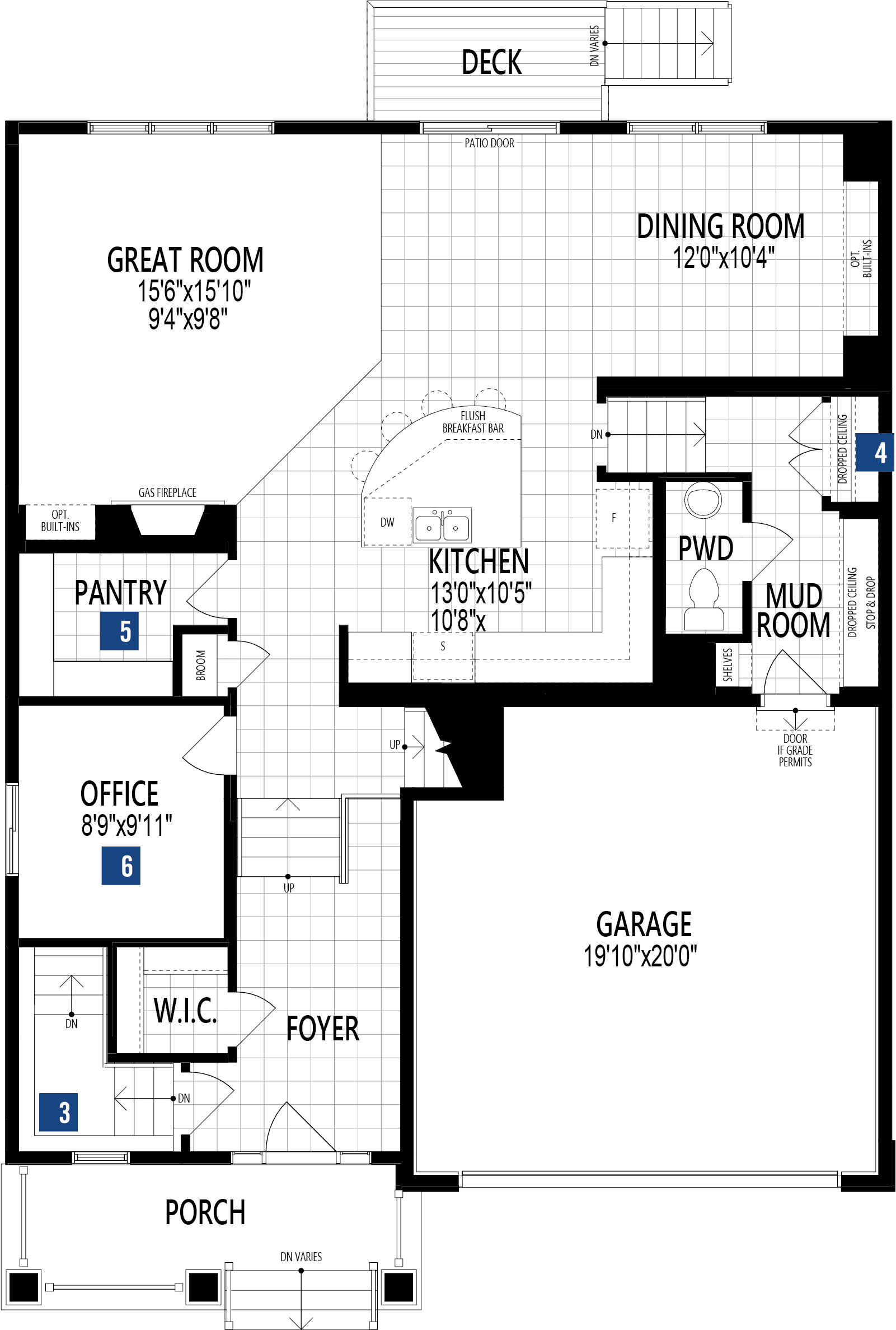 Armstrong Plan Floor Plan at Yorkville in Calgary Alberta by Mattamy Homes