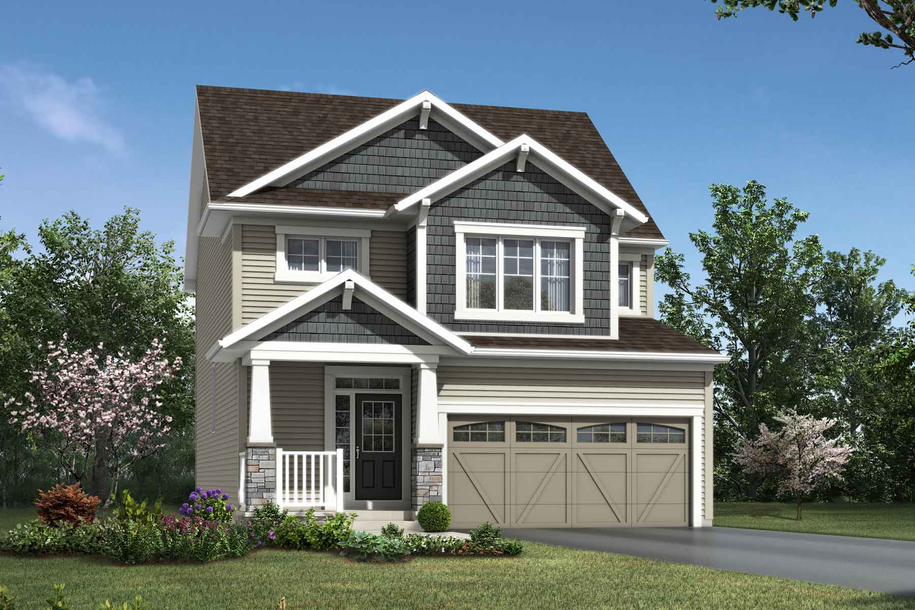 Fairview Plan Elevation Front at Yorkville in Calgary Alberta by Mattamy Homes
