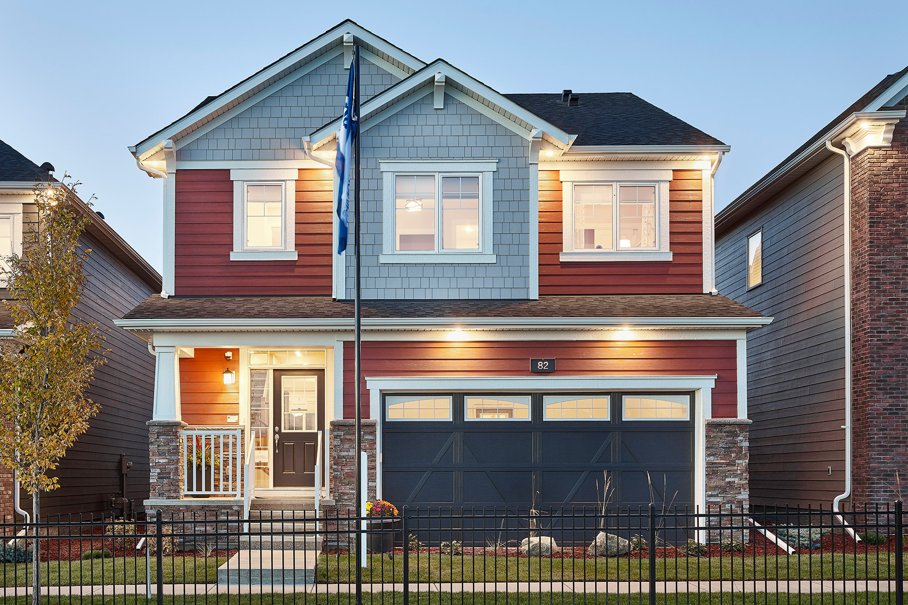 Fullerton Plan Elevation Front at Yorkville in Calgary Alberta by Mattamy Homes