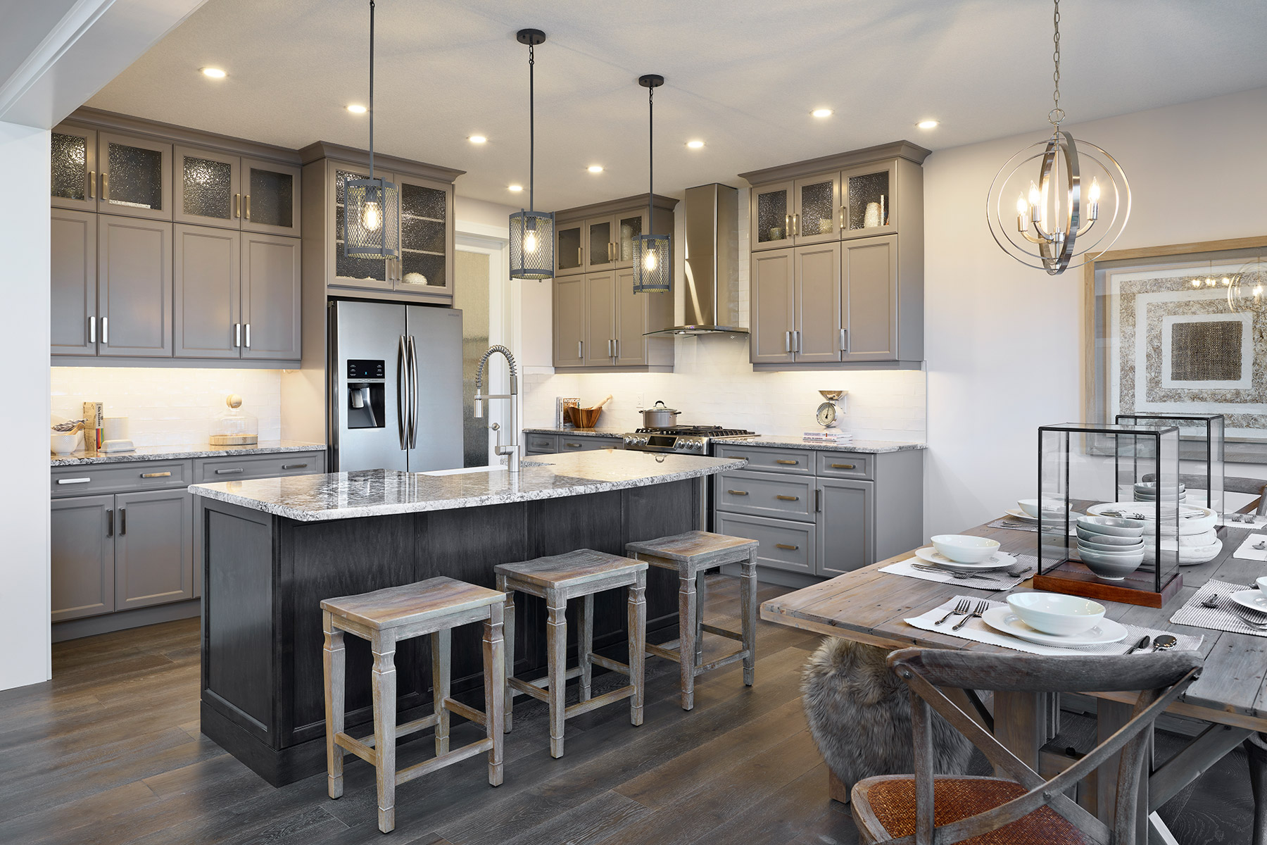Jade Plan Kitchen at Yorkville in Calgary Alberta by Mattamy Homes
