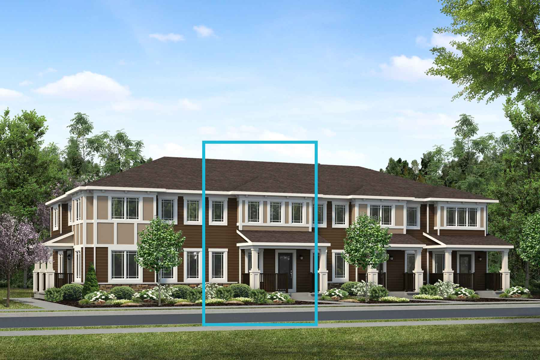 Kanata Plan TownHomes at Yorkville in Calgary Alberta by Mattamy Homes