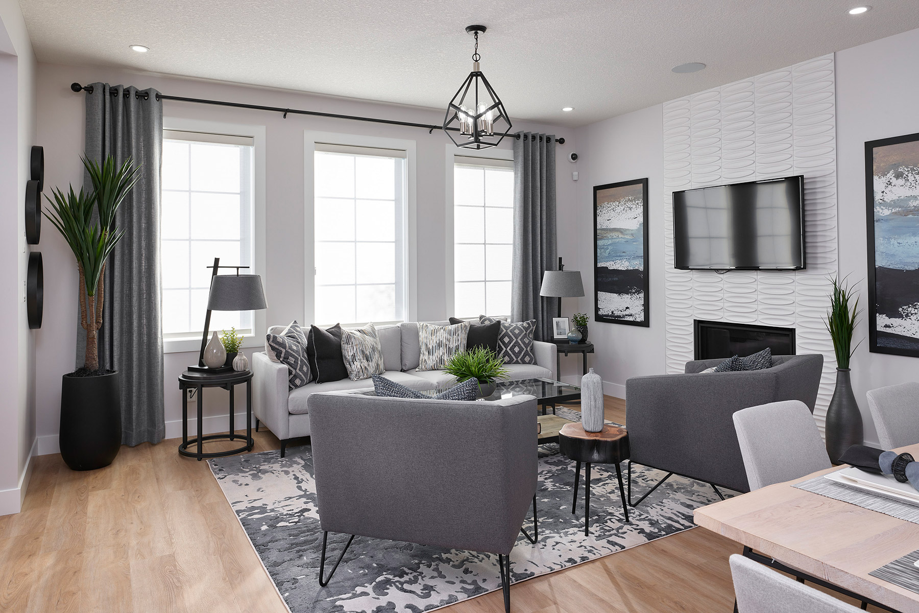 Monarch Plan Greatroom at Yorkville in Calgary Alberta by Mattamy Homes