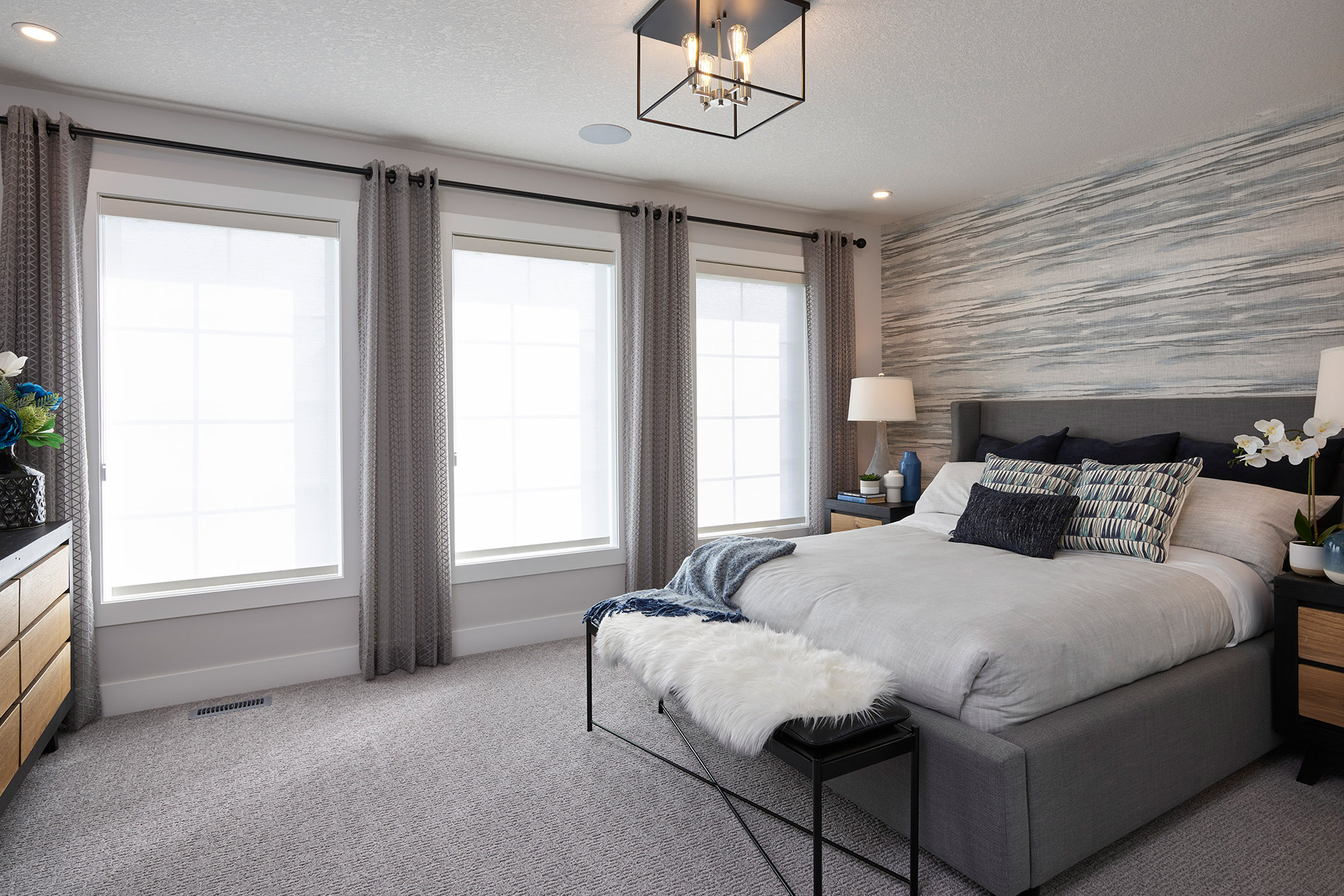 Monarch Plan Bedroom at Yorkville in Calgary Alberta by Mattamy Homes