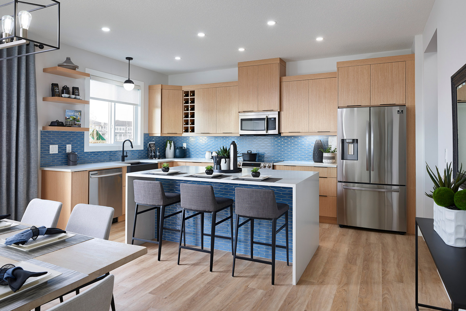 Monarch Plan Kitchen at Yorkville in Calgary Alberta by Mattamy Homes