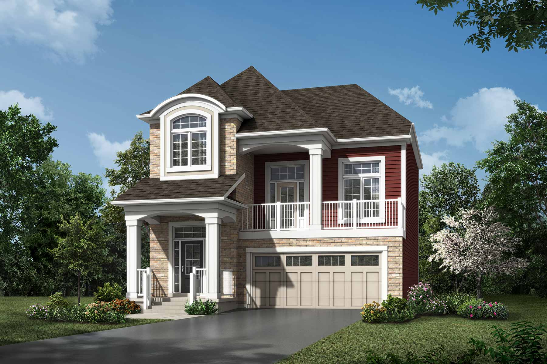 Kanata Plan Elevation Front at Yorkville in Calgary Alberta by Mattamy Homes