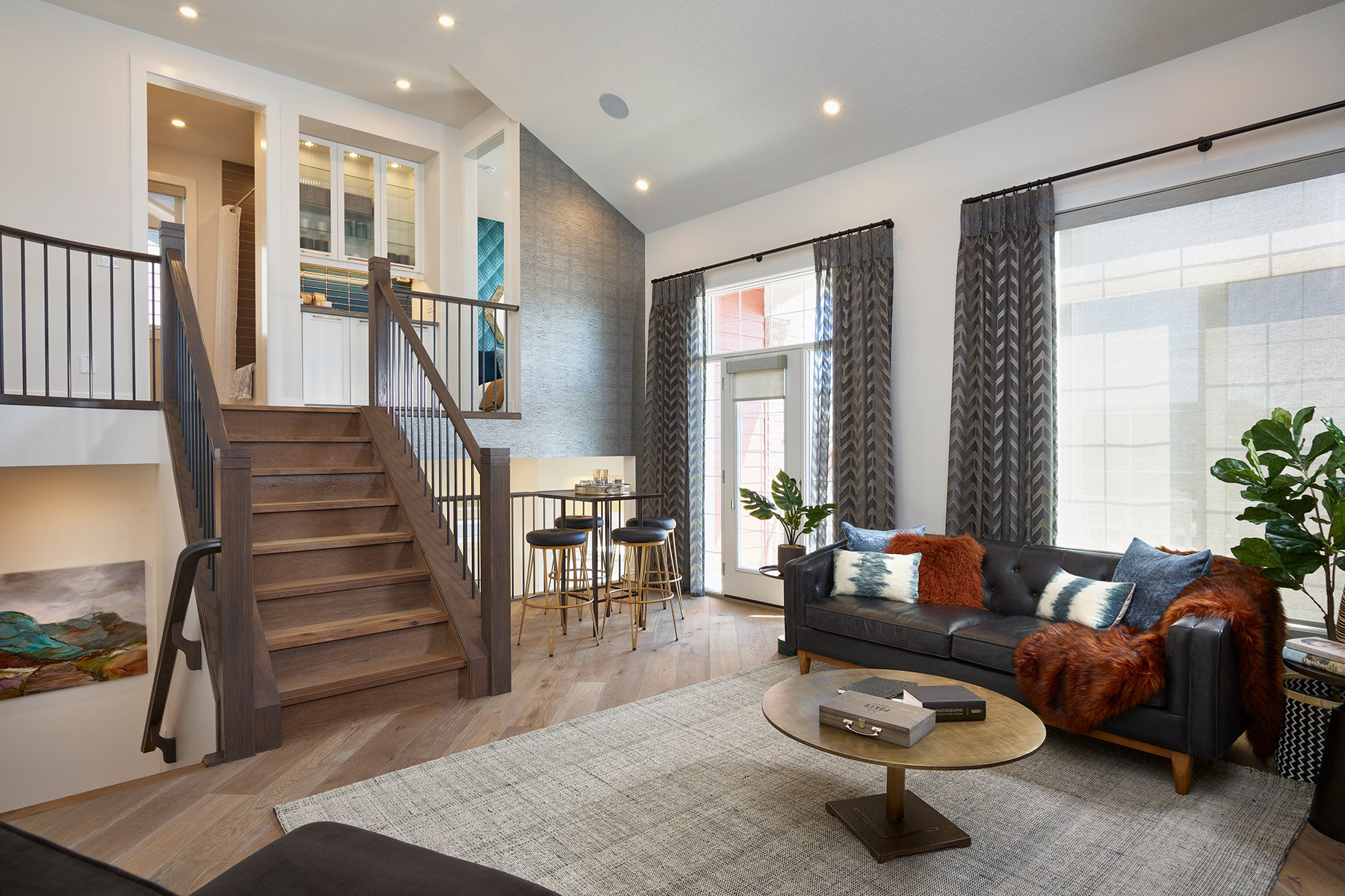 Onyx Plan Greatroom at Yorkville in Calgary Alberta by Mattamy Homes