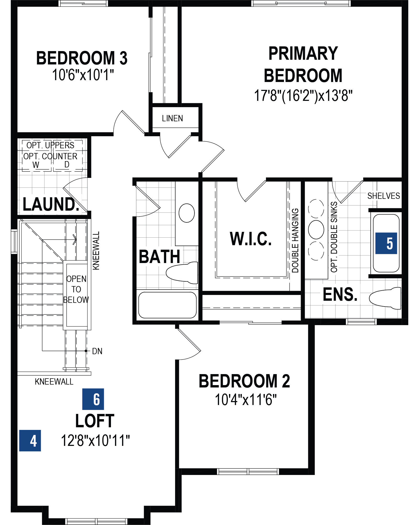 Riedel Plan Floor Plan at Yorkville in Calgary Alberta by Mattamy Homes