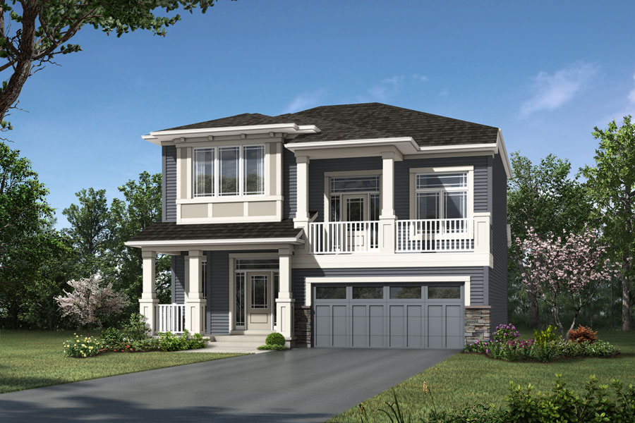 Rutherford Plan elevationprairie_yorkville_rutherford_900x600 at Yorkville in Calgary Alberta by Mattamy Homes