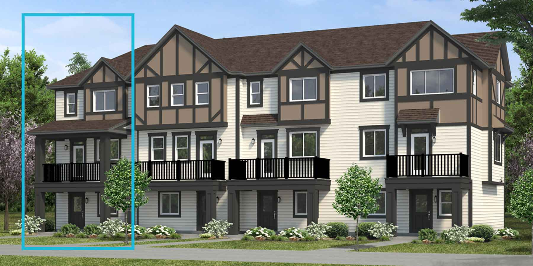 Harvest End Plan TownHomes at Crescent Trails in Edmonton Alberta by Mattamy Homes