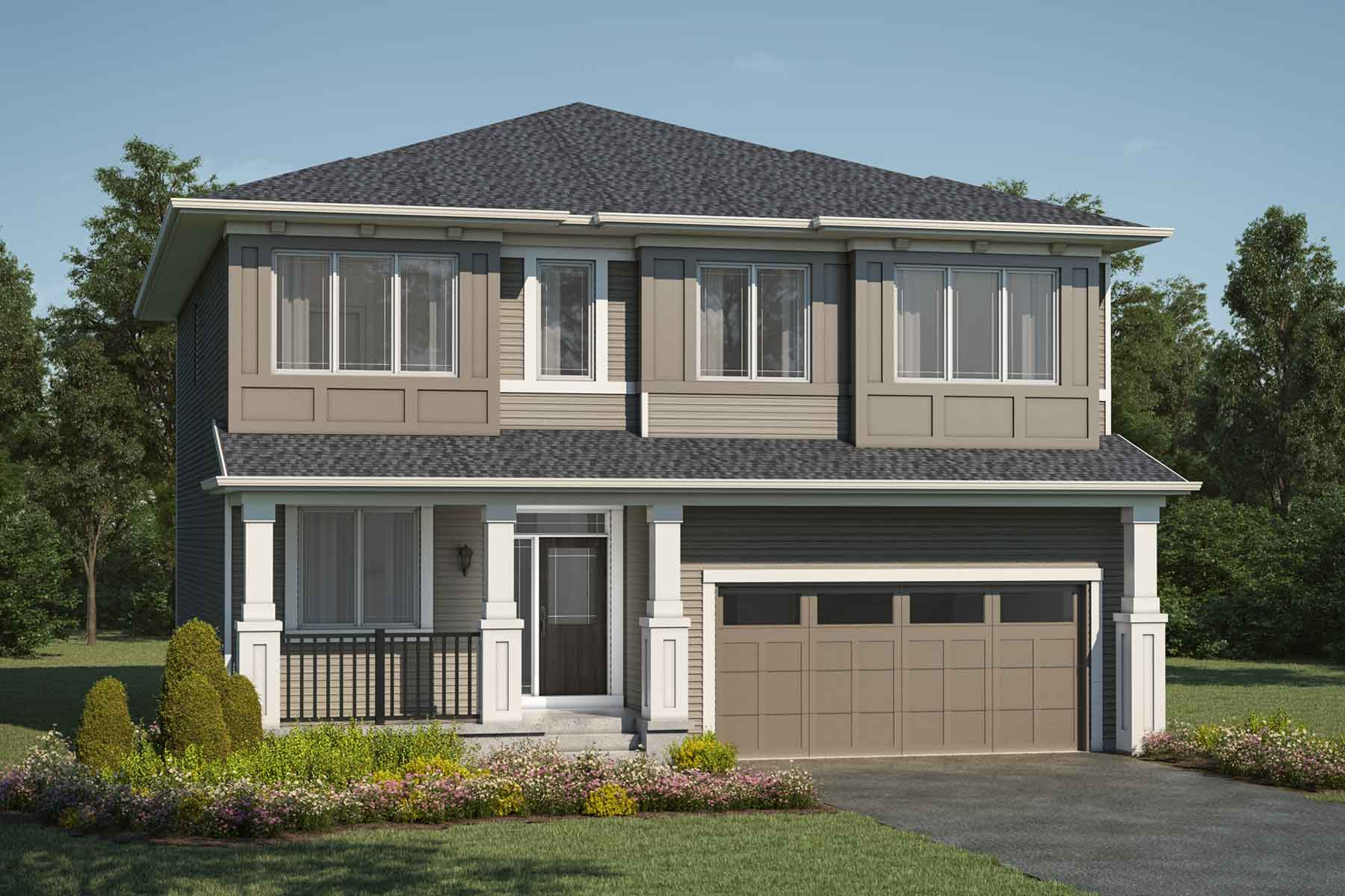 Cline Plan Elevation Front at Stillwater in Edmonton Alberta by Mattamy Homes