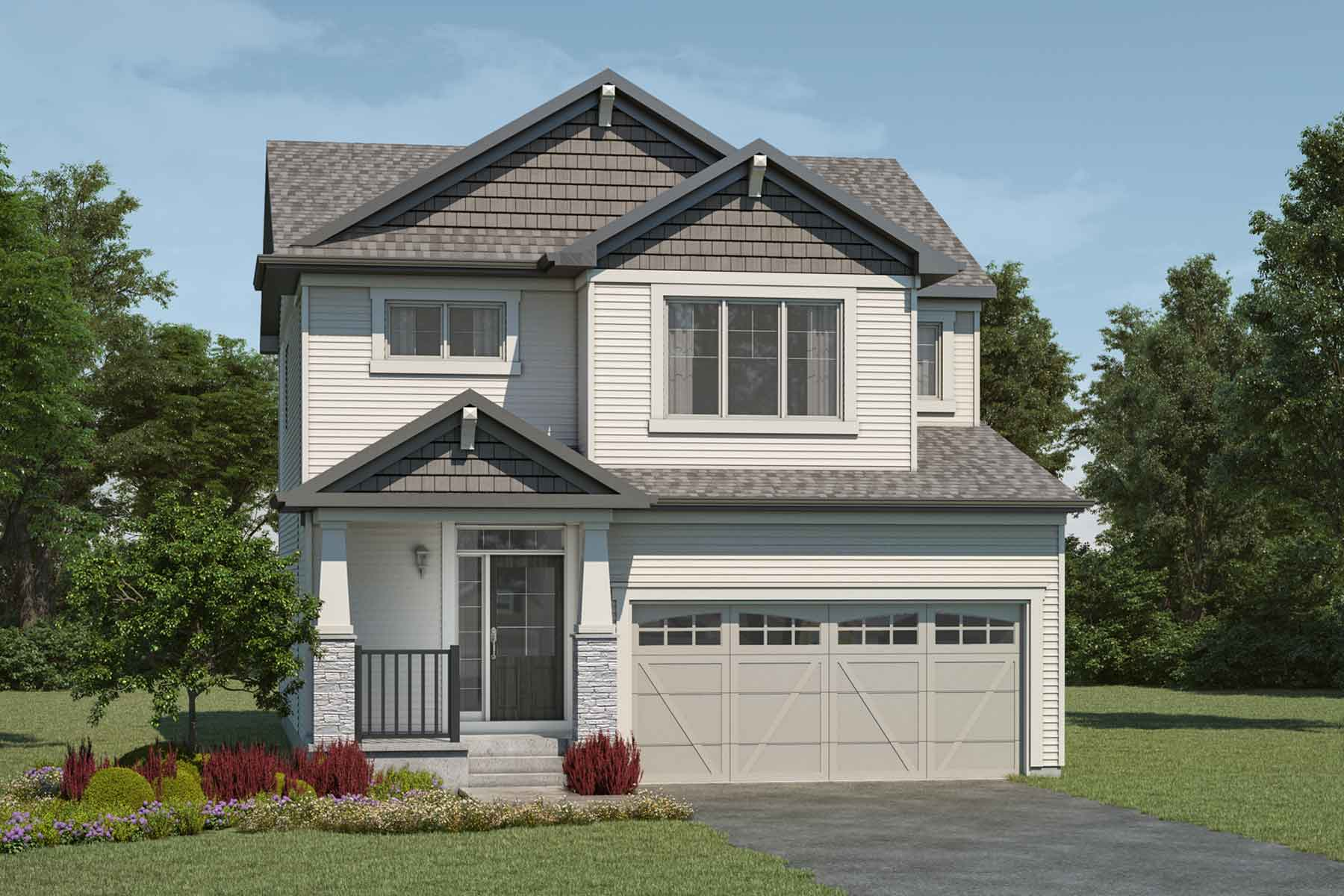 Fairview Plan Elevation Front at Stillwater in Edmonton Alberta by Mattamy Homes