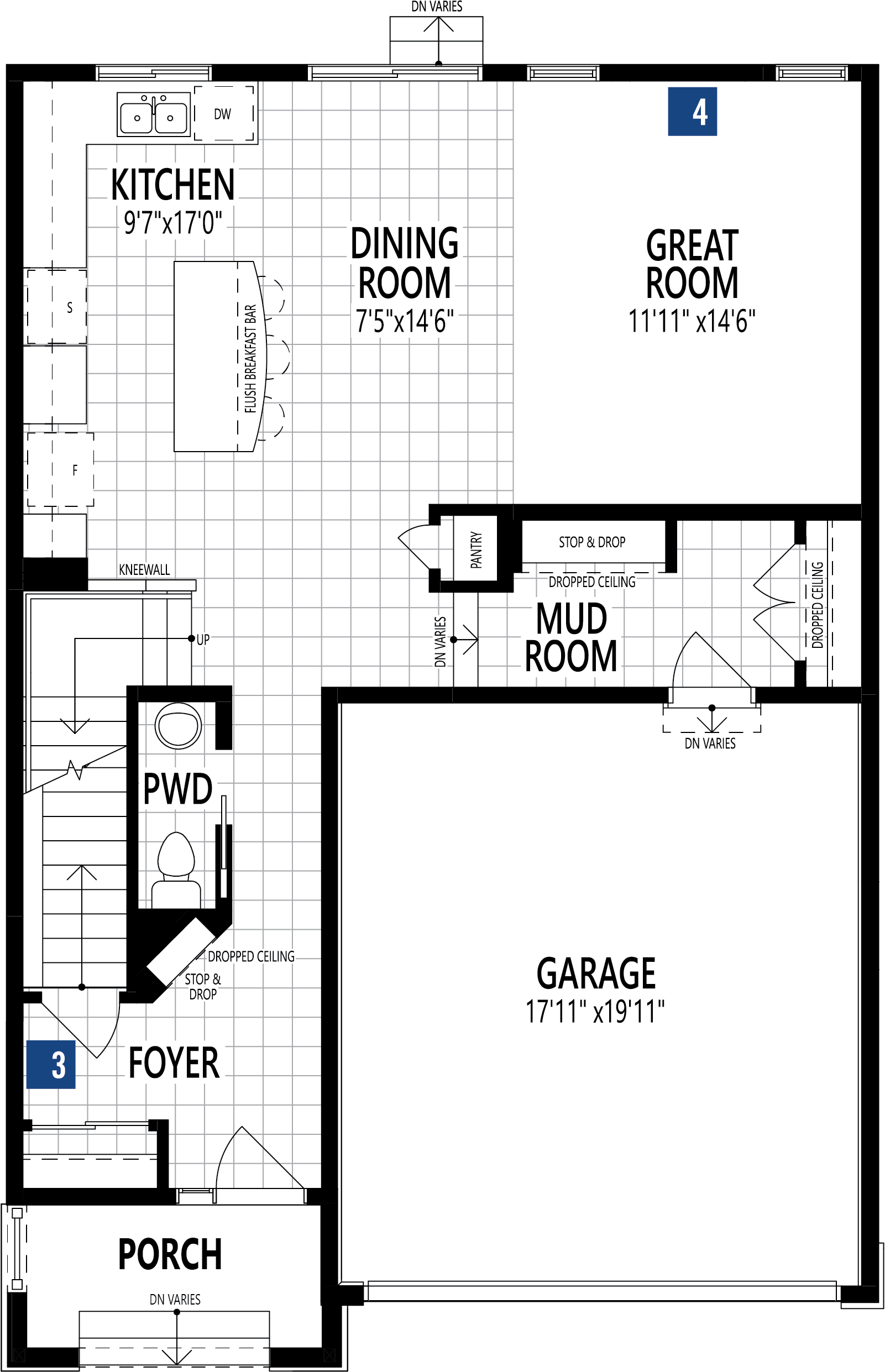 Fairview Plan Floor Plan at Stillwater in Edmonton Alberta by Mattamy Homes