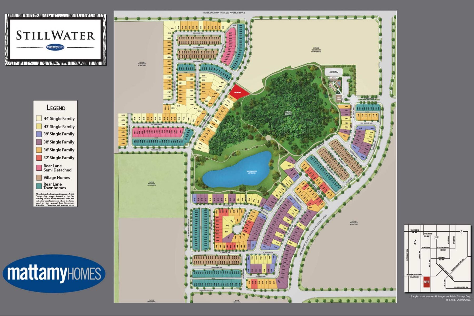 Stillwater Lot Map in Edmonton Alberta by Mattamy Homes