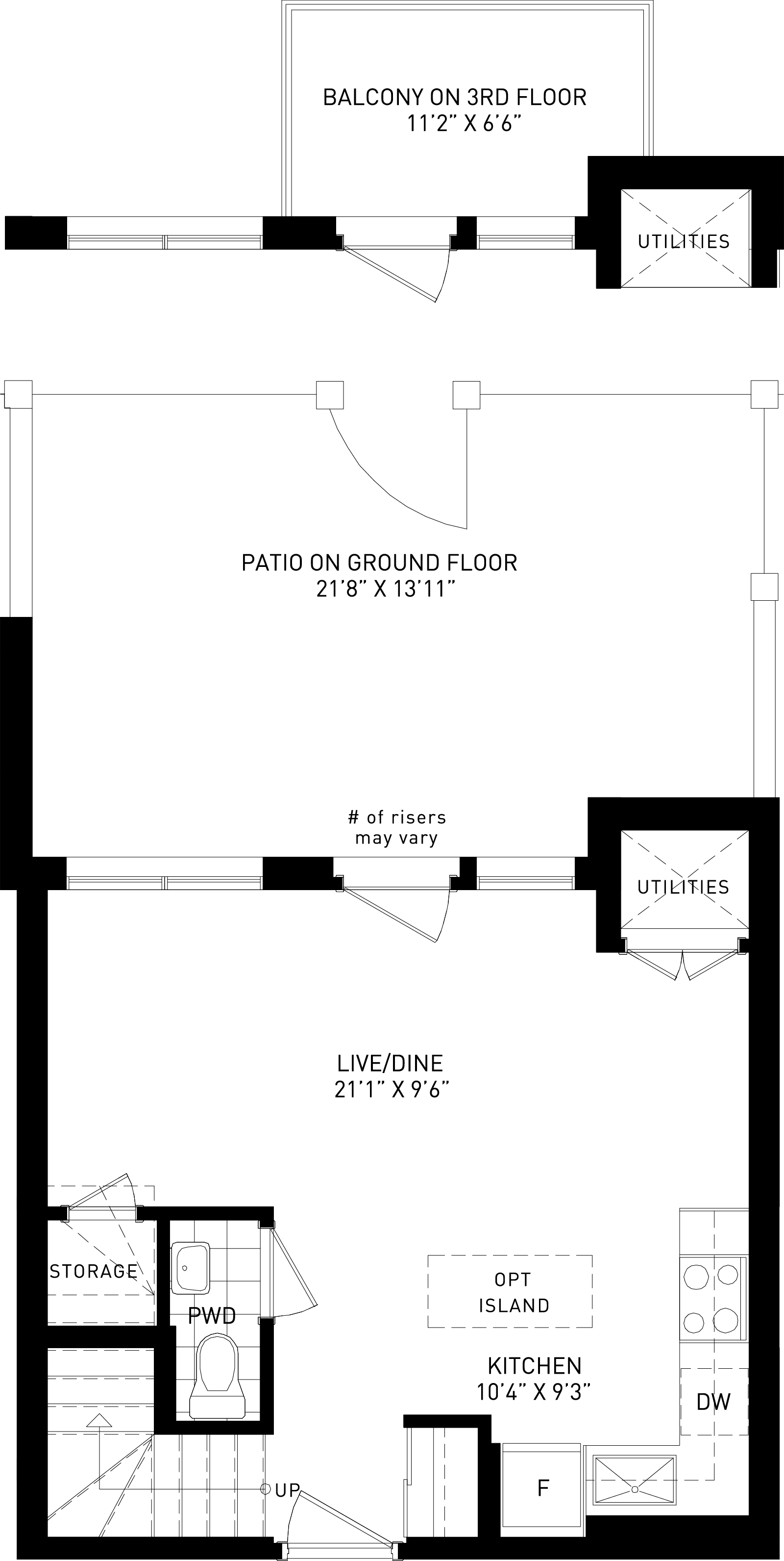 The Chestnut Plan Floor Plan at Parkside Towns At Saturday In Downsview Park in Toronto Ontario by Mattamy Homes