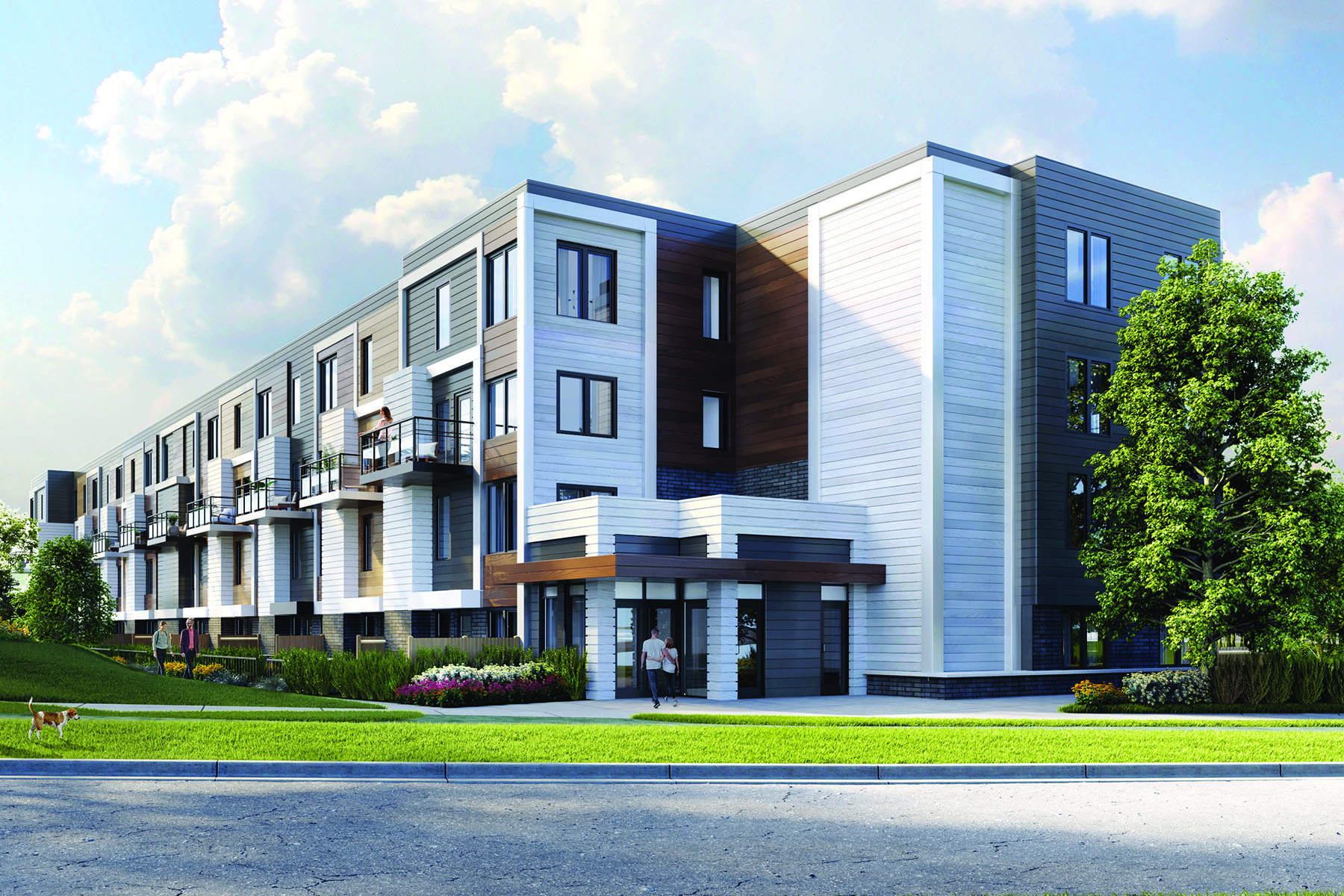 The Tamarack Plan urbantown_saturdayindownsviewpark_hickory at Parkside Towns At Saturday In Downsview Park in Toronto Ontario by Mattamy Homes