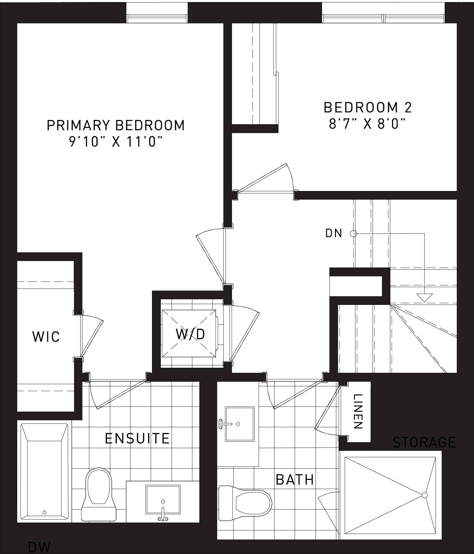 The Hickory Plan Floor Plan at Parkside Towns At Saturday In Downsview Park in Toronto Ontario by Mattamy Homes