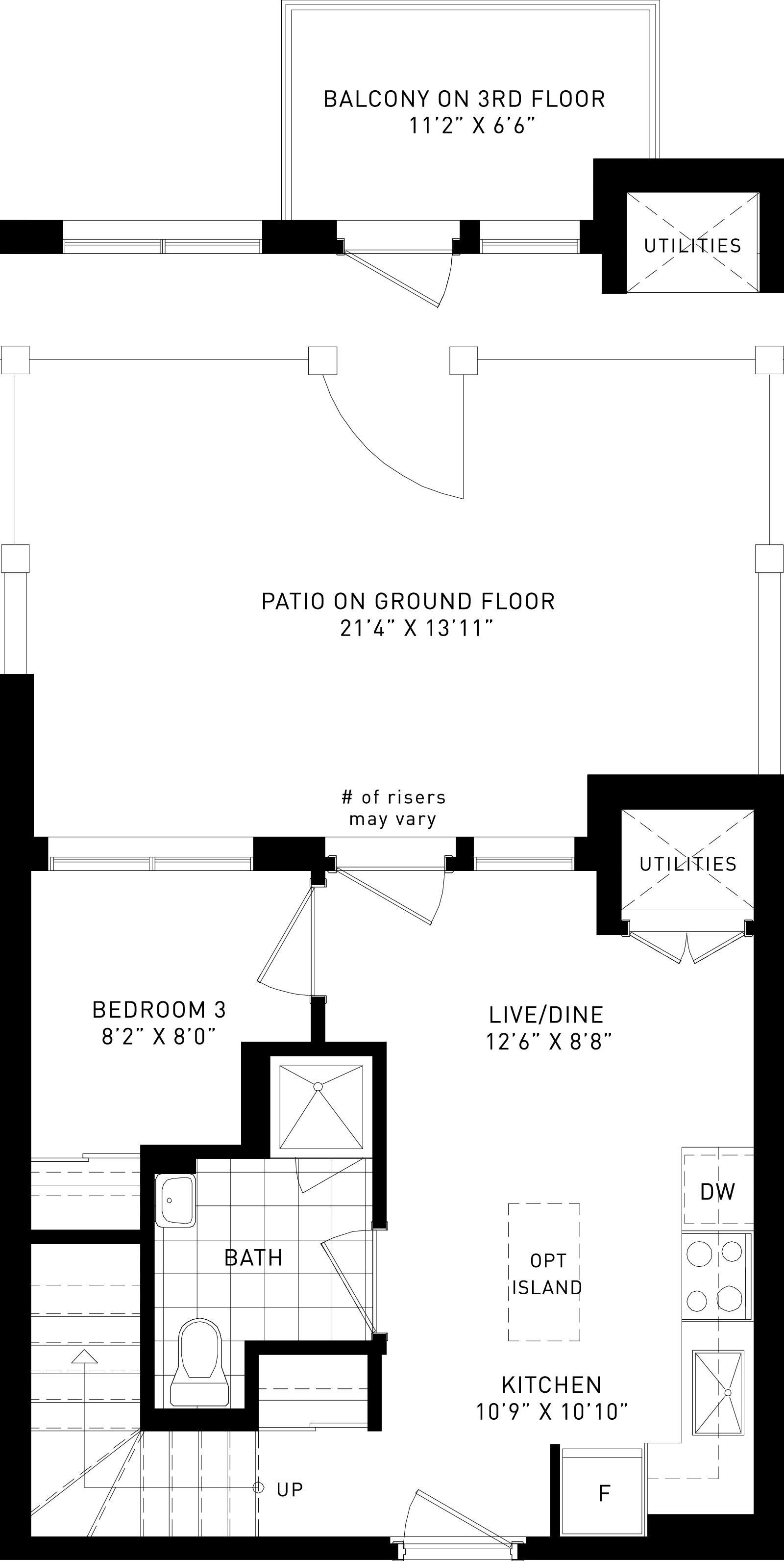 The Mulberry Plan Floor Plan at Parkside Towns At Saturday In Downsview Park in Toronto Ontario by Mattamy Homes