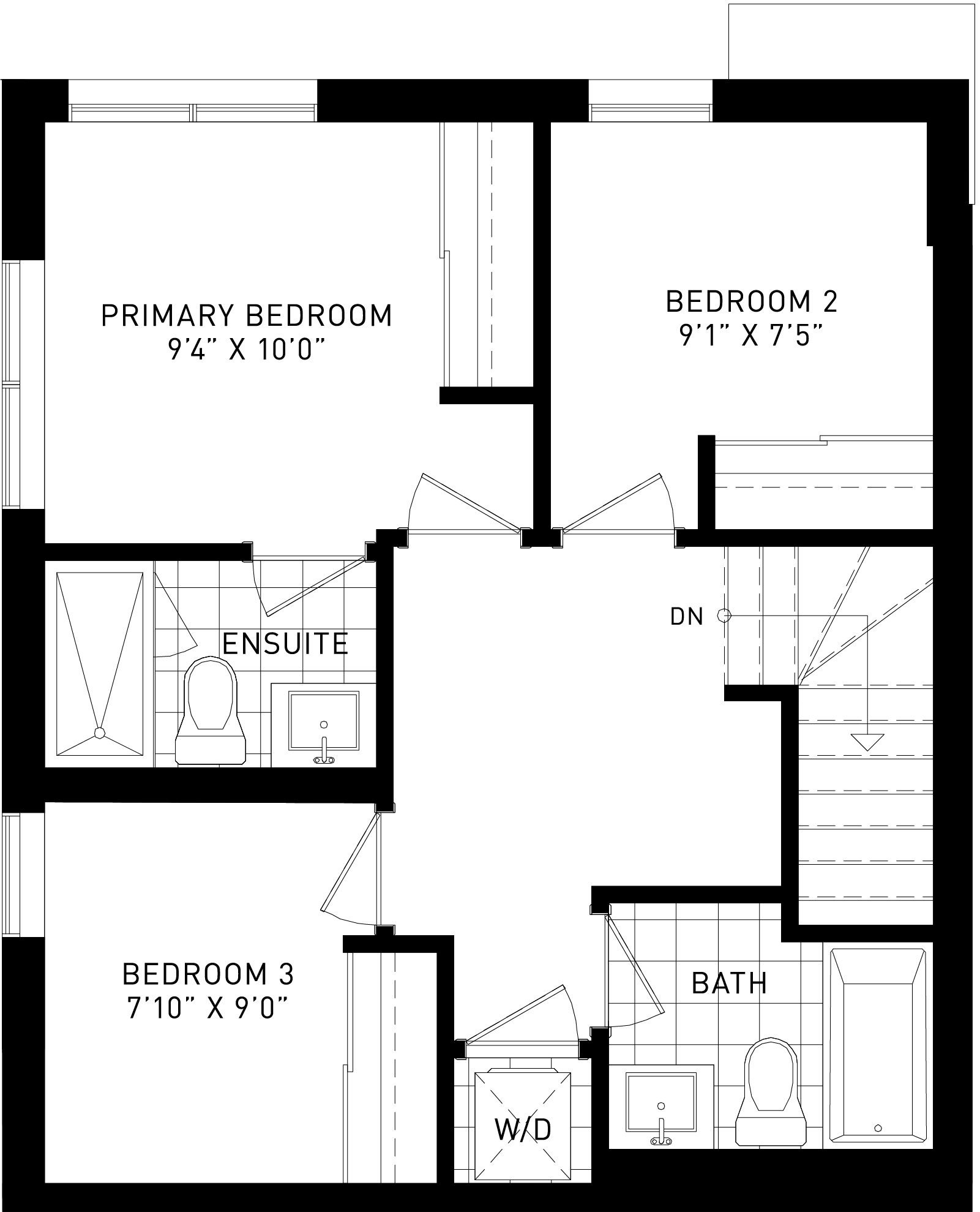 The Willow Plan Floor Plan at Parkside Towns At Saturday In Downsview Park in Toronto Ontario by Mattamy Homes