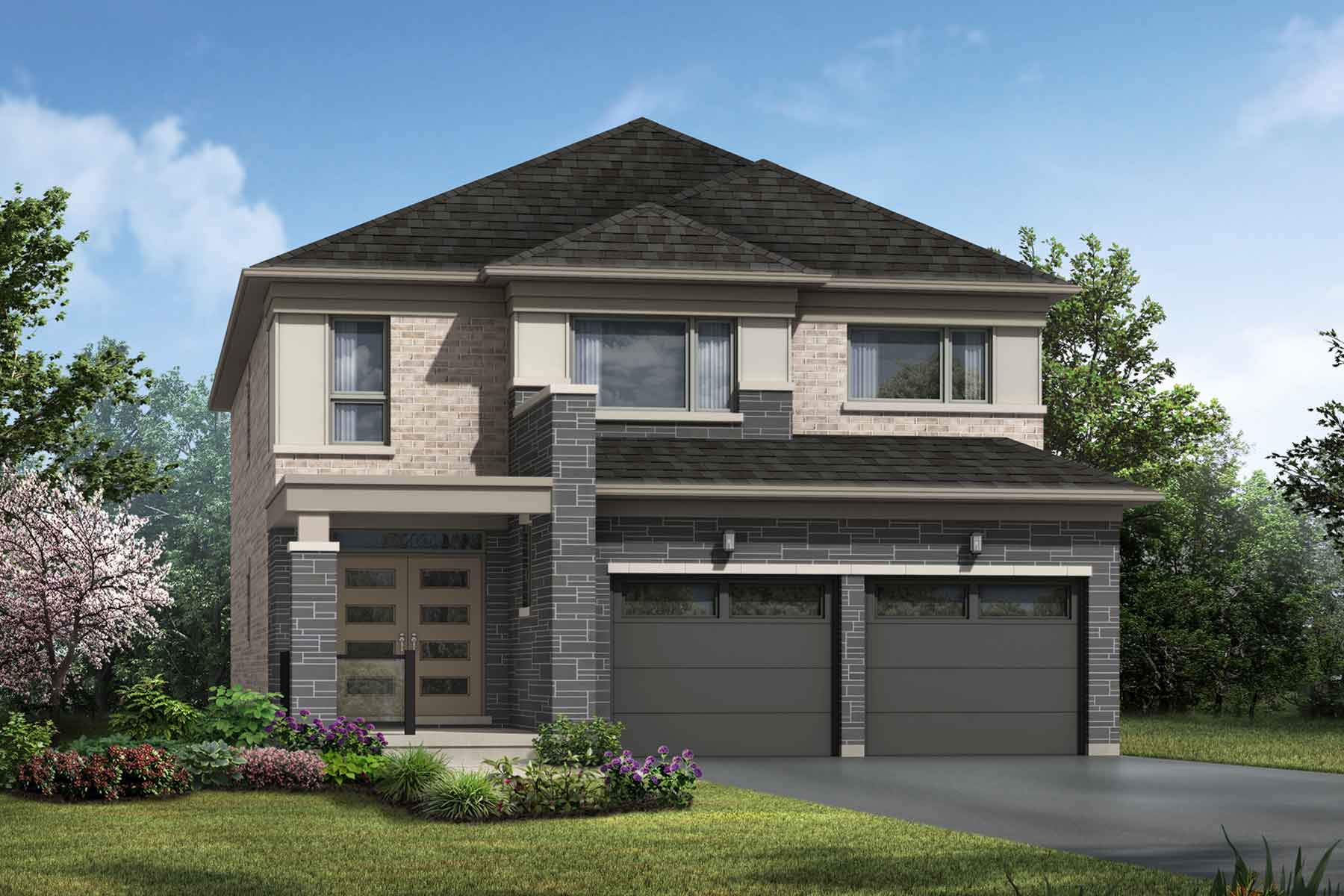Amberlee Plan Elevation Front at Seaton Whitevale in Pickering Ontario by Mattamy Homes