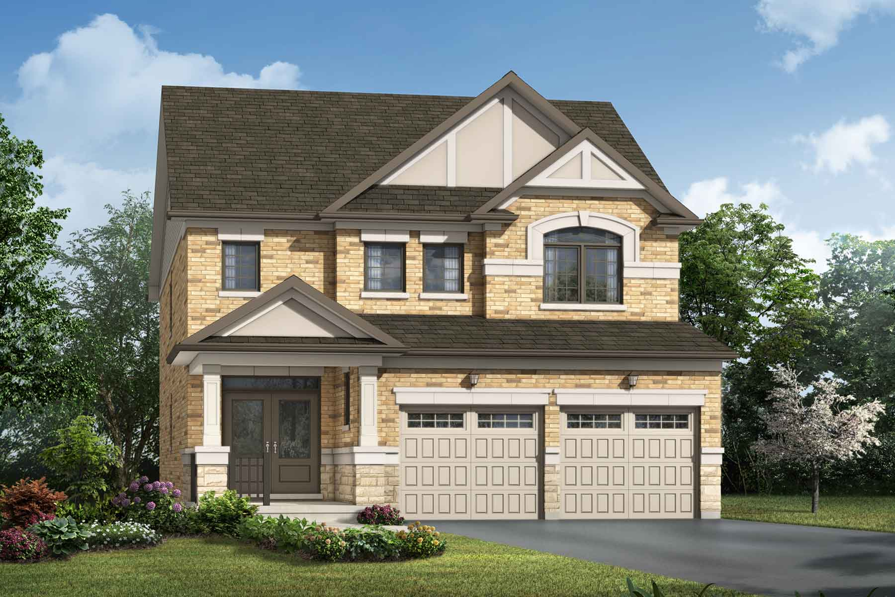 Rosebank Plan traditional_seatonwhitevale_amberlee_main at Seaton Whitevale in Pickering Ontario by Mattamy Homes