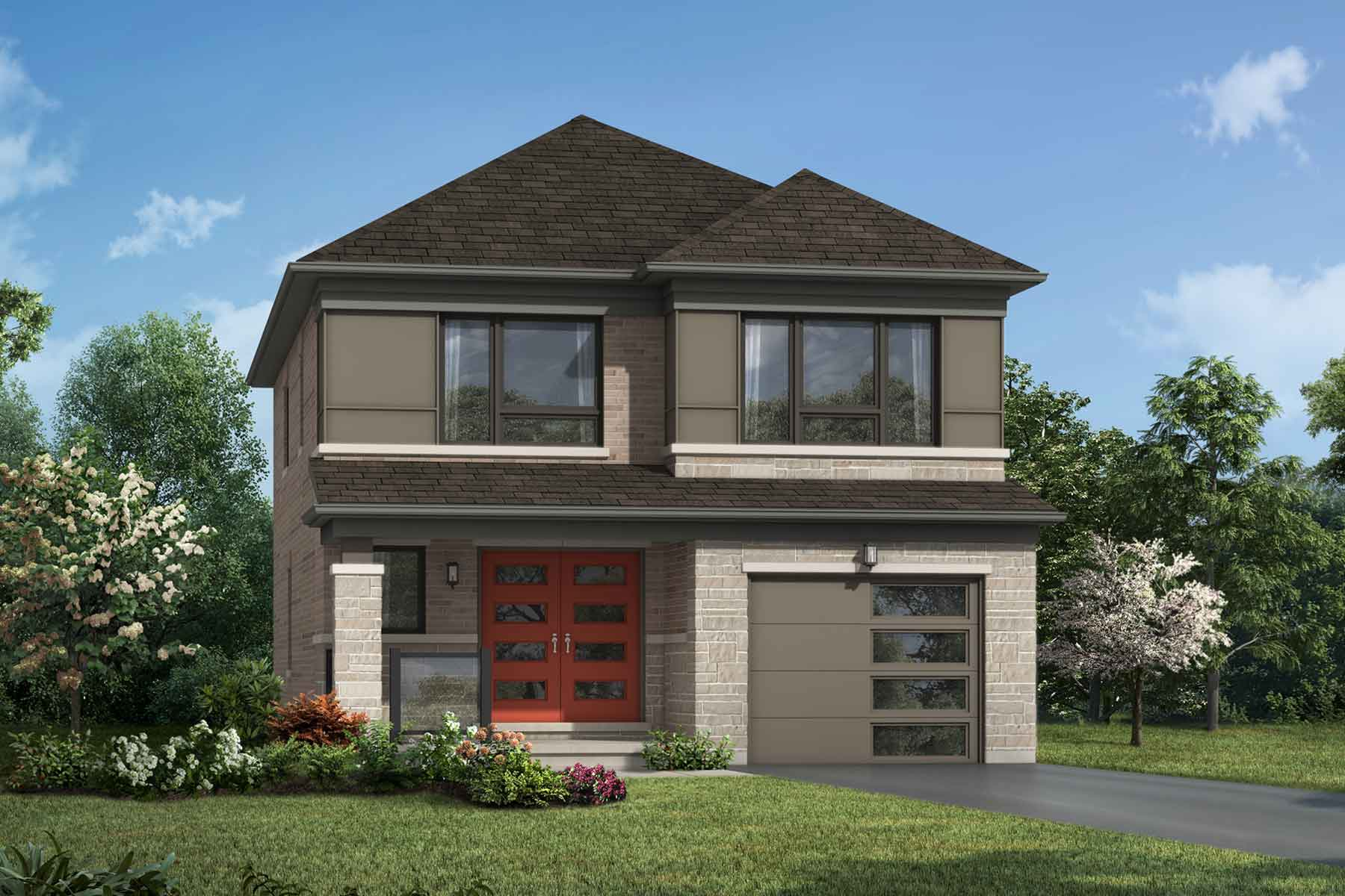 Belmont Plan Elevation Front at Seaton Whitevale in Pickering Ontario by Mattamy Homes