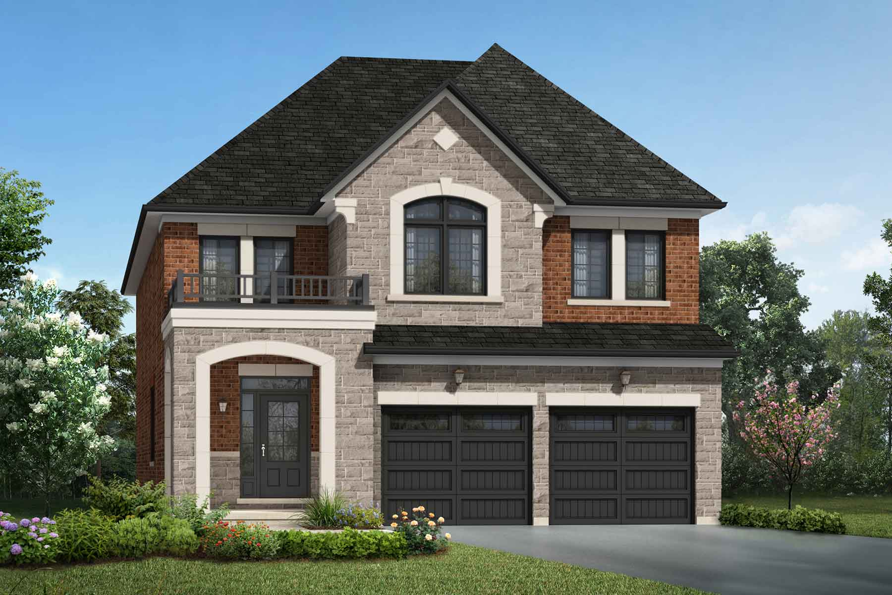 Valley View Plan englishmanor_seatonwhitevale_brockridge_main at Seaton Whitevale in Pickering Ontario by Mattamy Homes