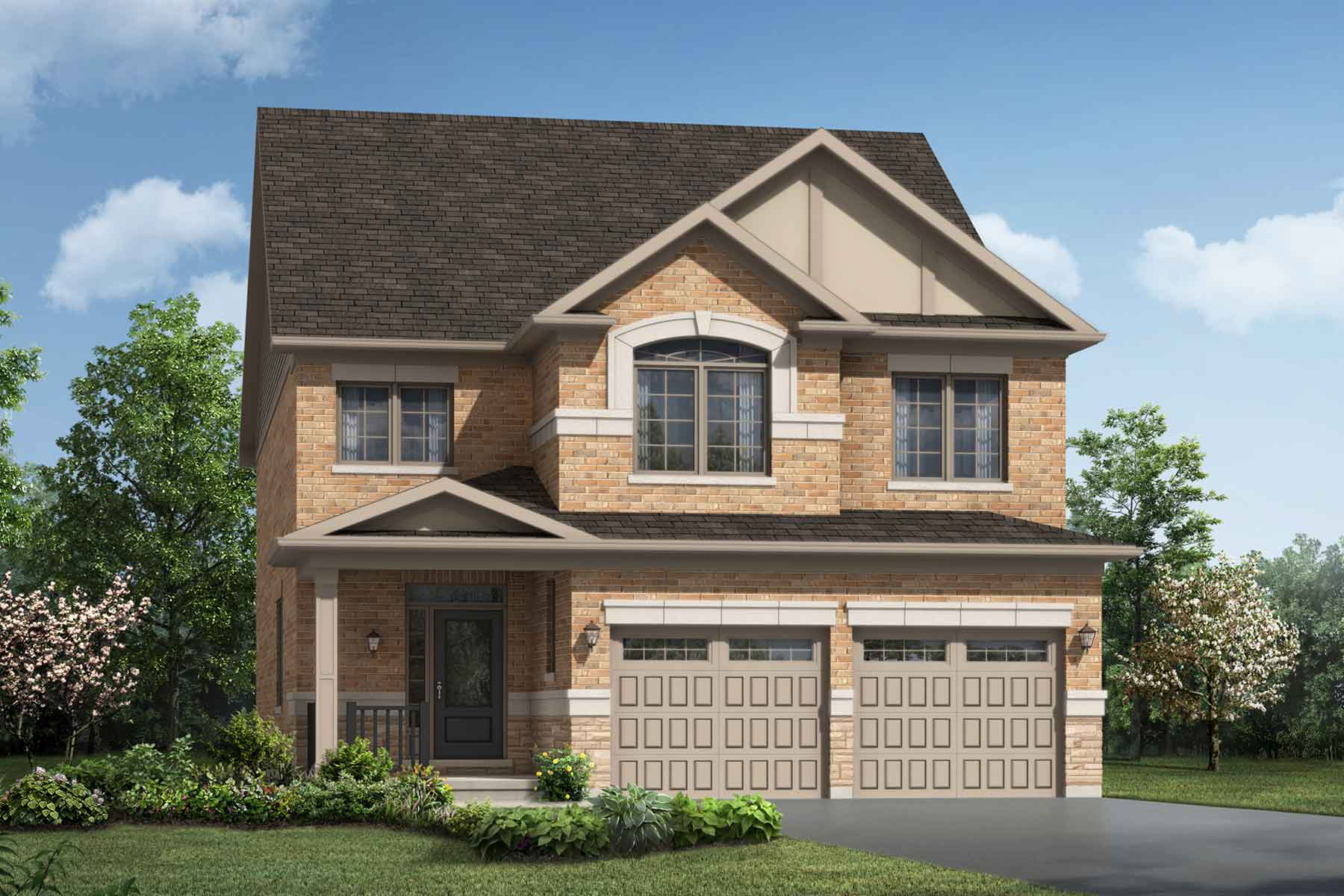 Brockridge Plan Elevation Front at Seaton Whitevale in Pickering Ontario by Mattamy Homes