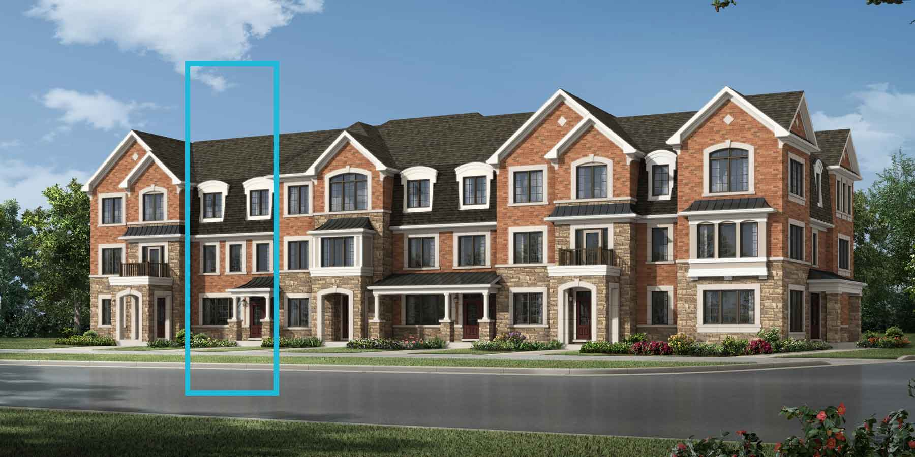 Brookside Plan TownHomes at Seaton Whitevale in Pickering Ontario by Mattamy Homes
