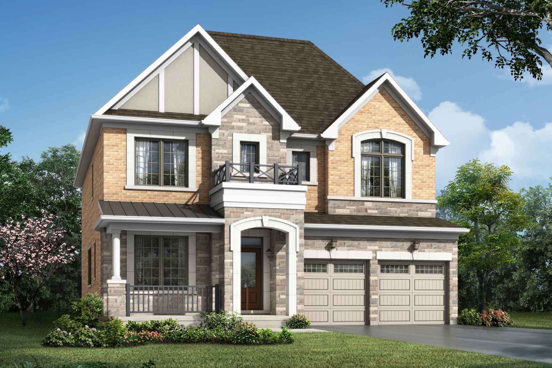 Lupin Corner Plan englishmanor_seatonwhitevale_claremont_main at Seaton Whitevale in Pickering Ontario by Mattamy Homes