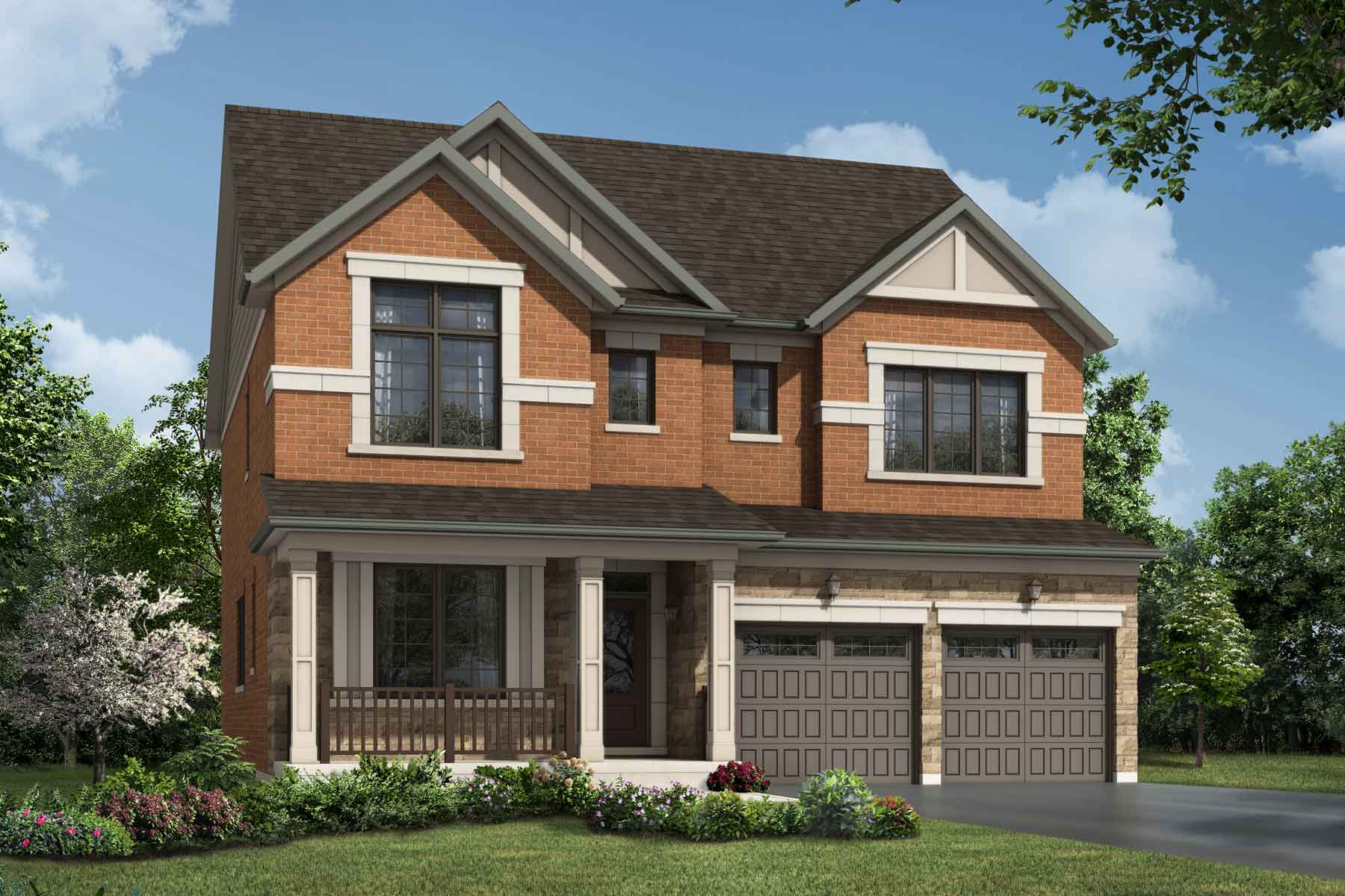 Claremont Plan Elevation Front at Seaton Whitevale in Pickering Ontario by Mattamy Homes