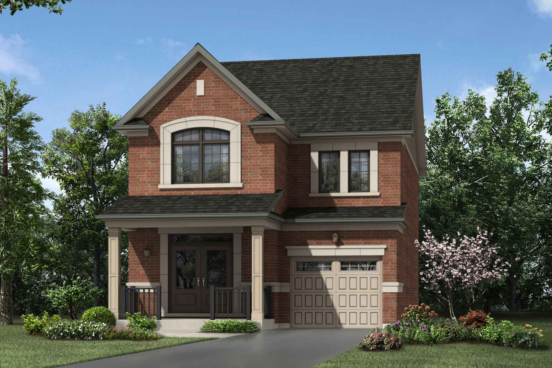 Elgin Plan Elevation Front at Seaton Whitevale in Pickering Ontario by Mattamy Homes