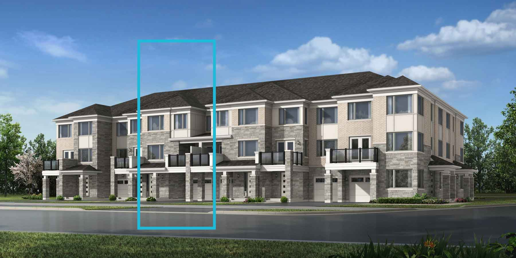 Rosebank Plan TownHomes at Seaton Whitevale in Pickering Ontario by Mattamy Homes